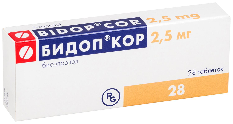 Бидоп Кор таблетки 2,5 мг №28