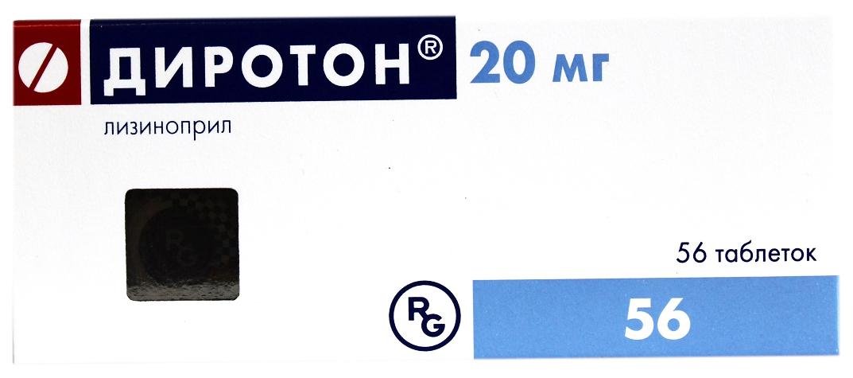 Купить Диротон таблетки 20 мг №56, Gedeon Richter