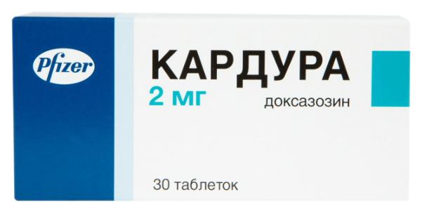Кардура таблетки 2 мг 30 шт.