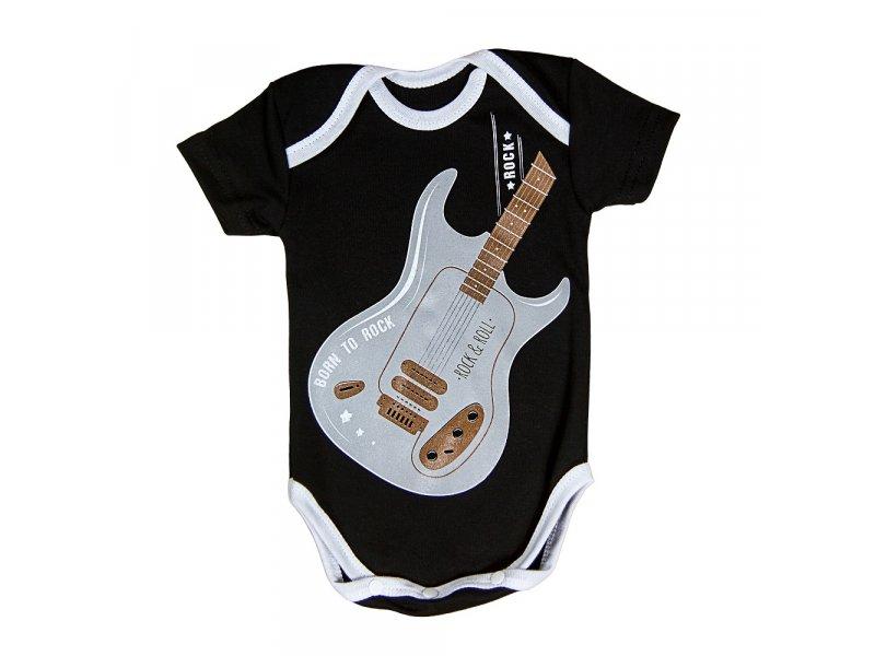 Купить AMARO-ODR101, Боди с коротким рукавом Amarobaby Rock Baby 01 Guitar, р. 56, Боди для новорожденных