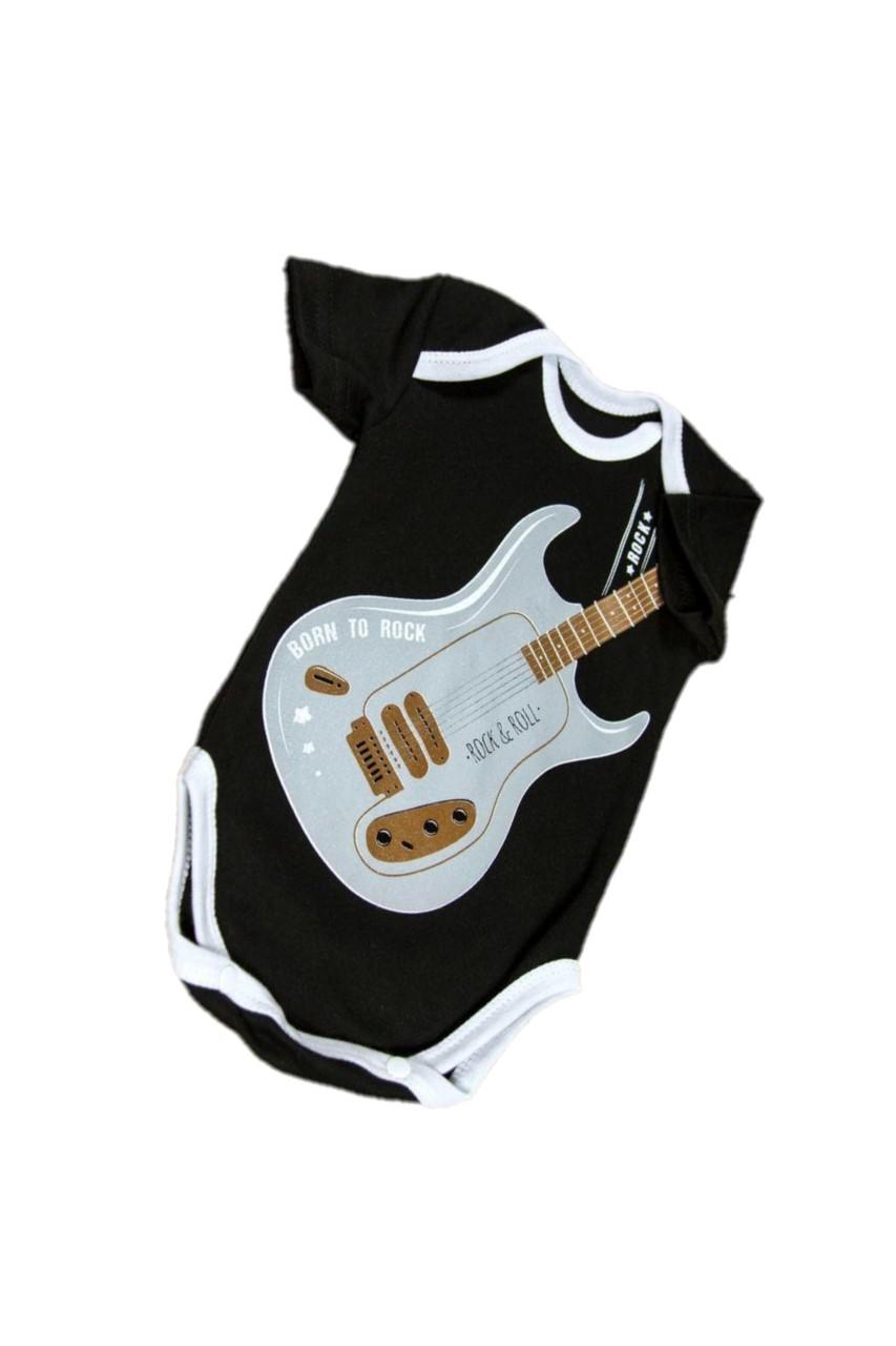 Купить AMARO-ODR101, Боди с коротким рукавом Amarobaby Rock Baby 01 Guitar, р. 62, Боди для новорожденных