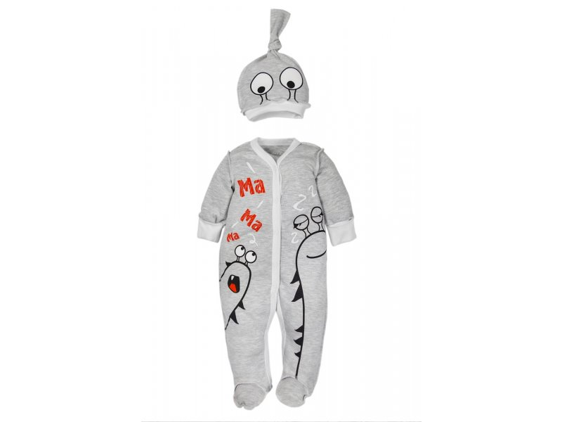 Купить AMARO-ODM301-S0, Комплект одежды Amarobaby, цв. серый р.56,