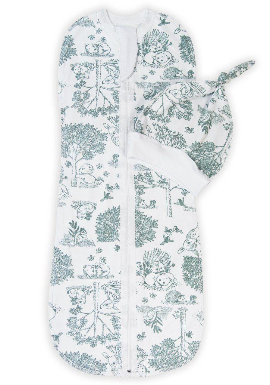 Купить Пеленка-кокон с шапочкой Amarobaby Soft Hugs Лесная сказка, р. 68-74,