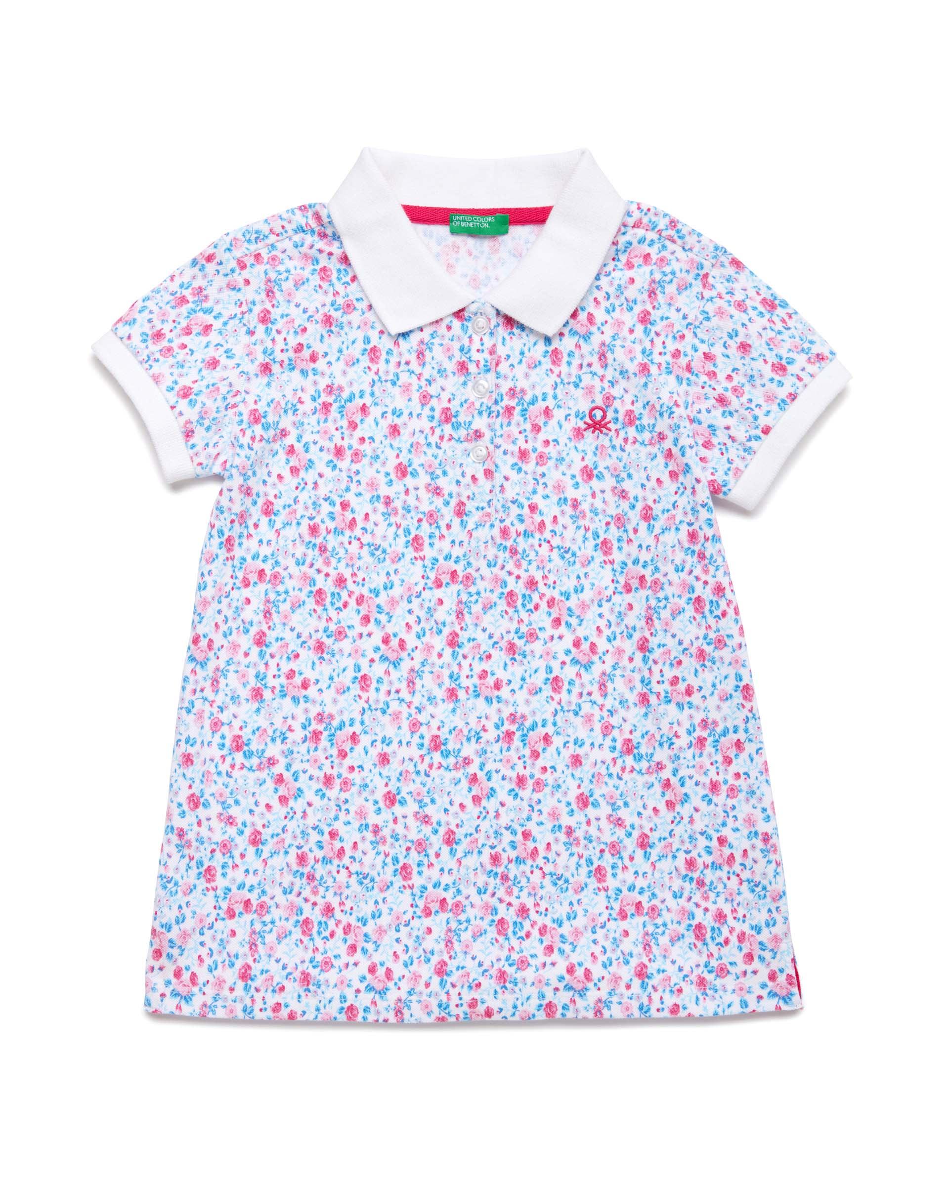 Купить 20P_3PK6C3126_69M, Поло-пике для девочек Benetton 3PK6C3126_69M р-р 80, United Colors of Benetton, Кофточки, футболки для новорожденных