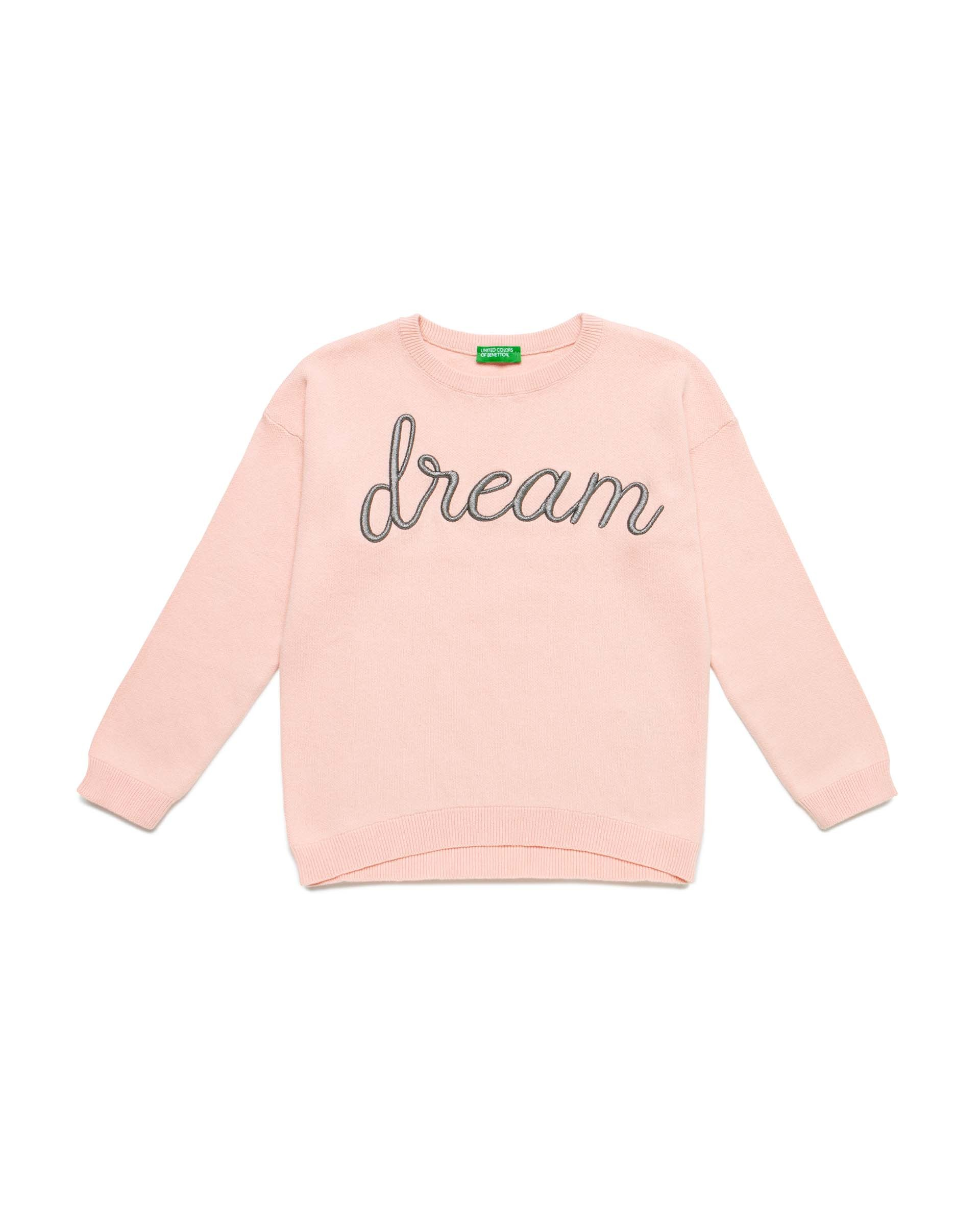 Купить 20P_10C1C1895_930, Джемпер для девочек Benetton 10C1C1895_930 р-р 110, United Colors of Benetton, Джемперы для девочек