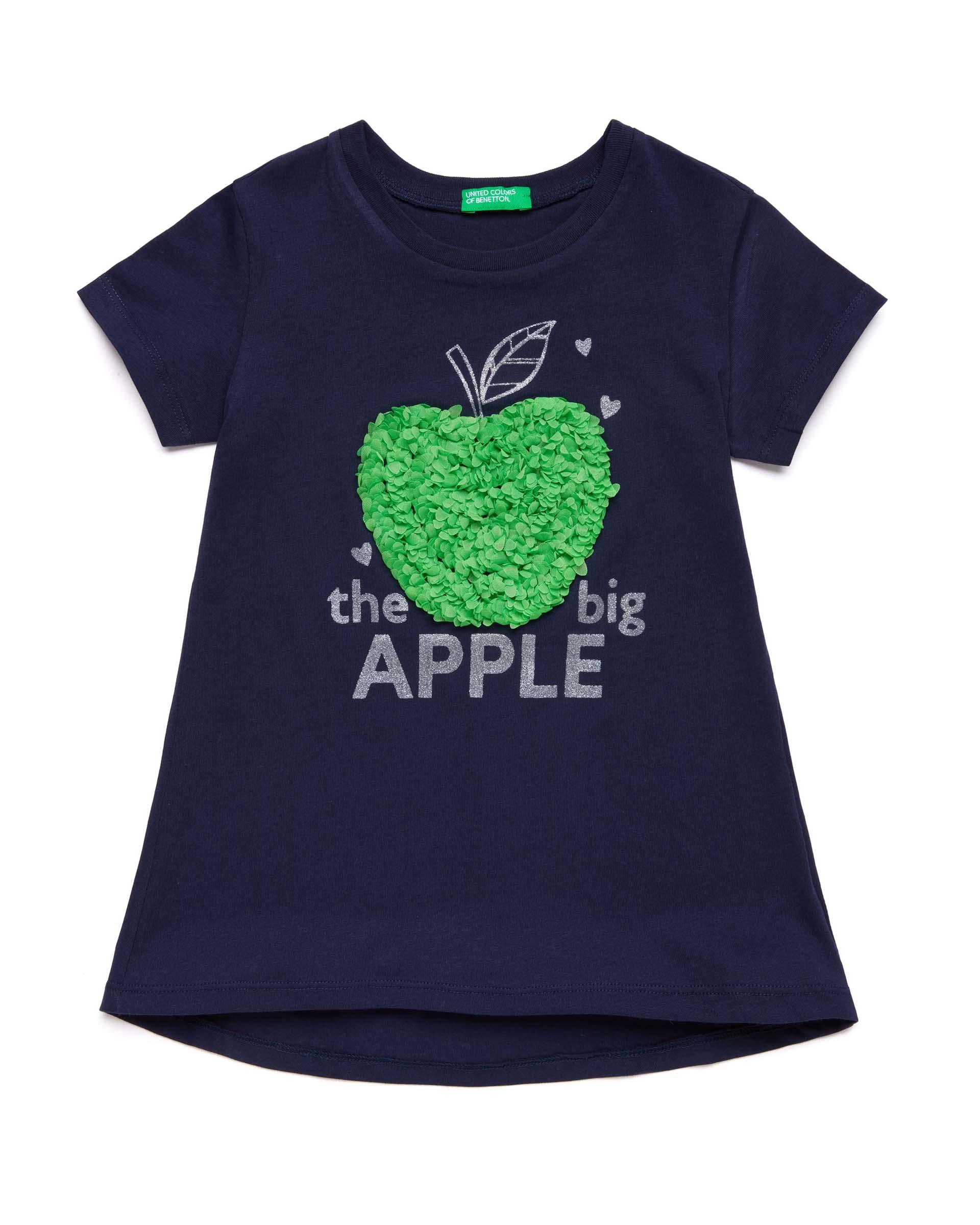 Купить 20P_3I1XC14L1_252, Футболка для девочек Benetton 3I1XC14L1_252 р-р 80, United Colors of Benetton, Кофточки, футболки для новорожденных