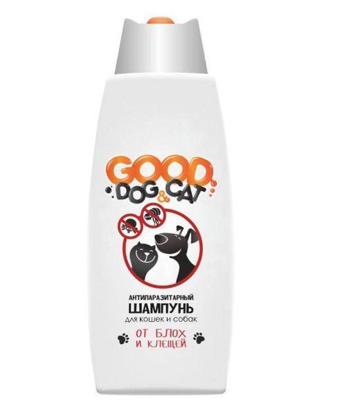 Антипаразитный шампунь для кошек и собак GOOD DOG, универсальный, 250 мл