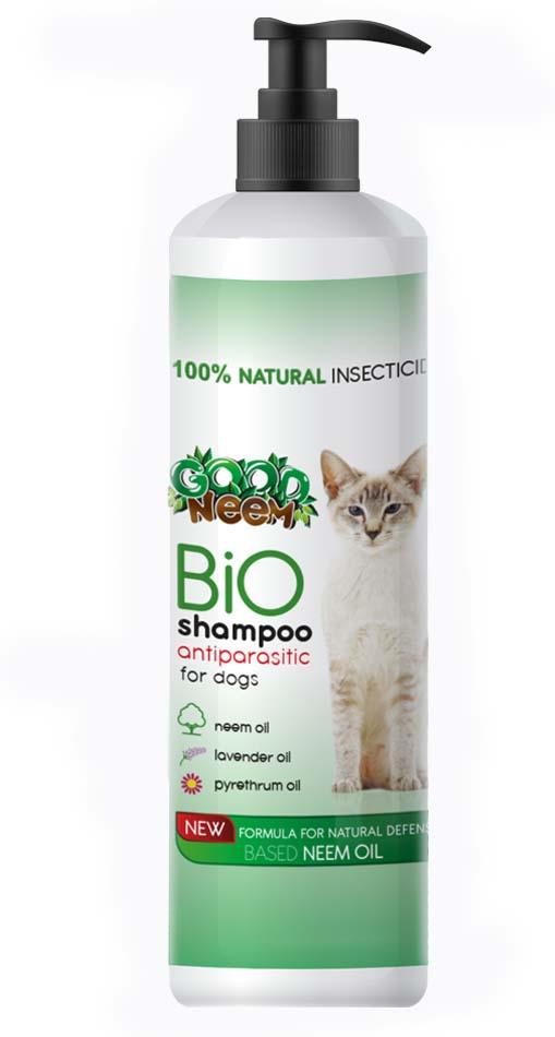 Антипаразитарный БИОшампунь для кошек и котят GOOD NEEM, с маслом дерева ним, 250 мл фото
