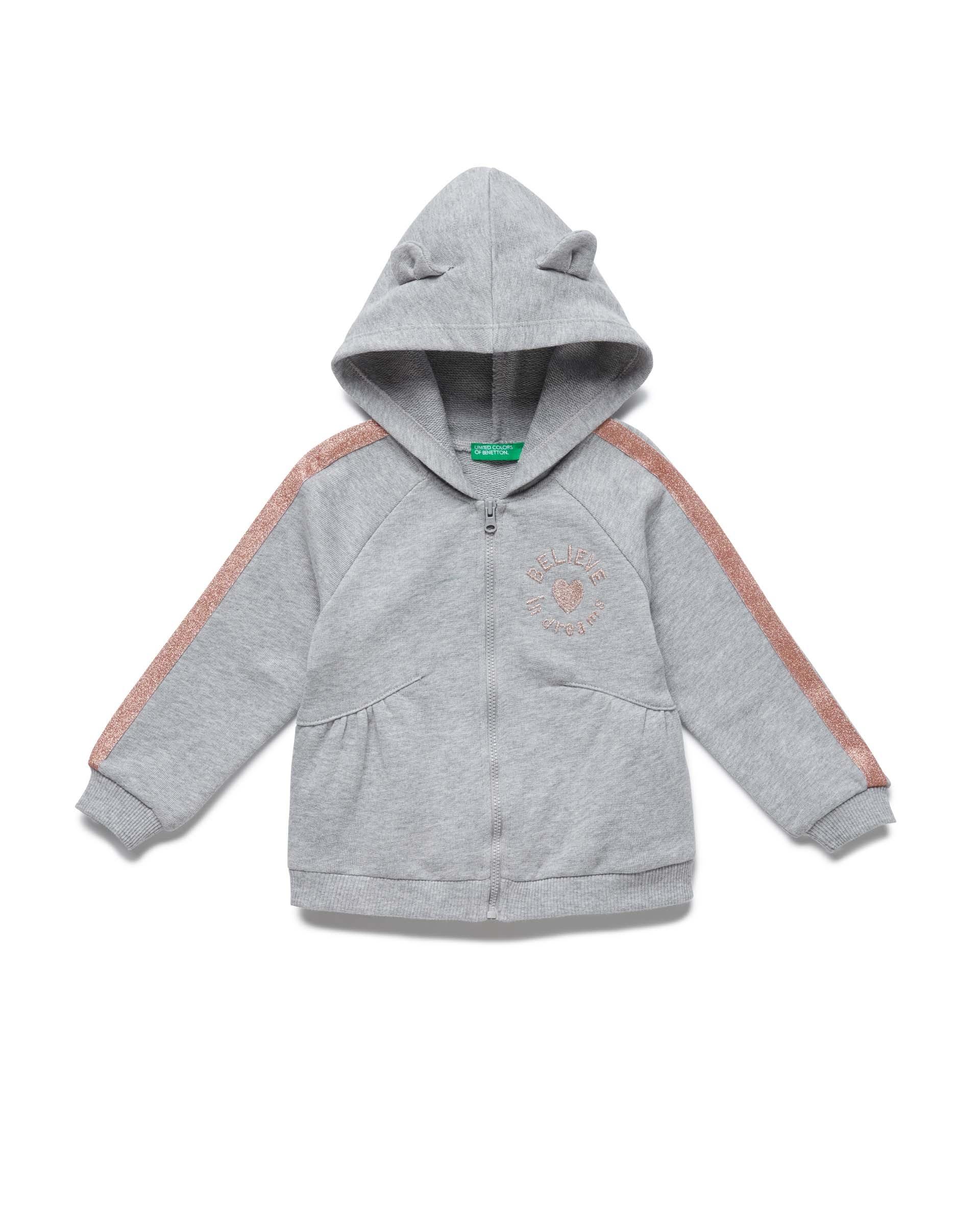 Купить 20P_3J68C52FP_501, Толстовка для девочек Benetton 3J68C52FP_501 р-р 80, United Colors of Benetton, Кофточки, футболки для новорожденных