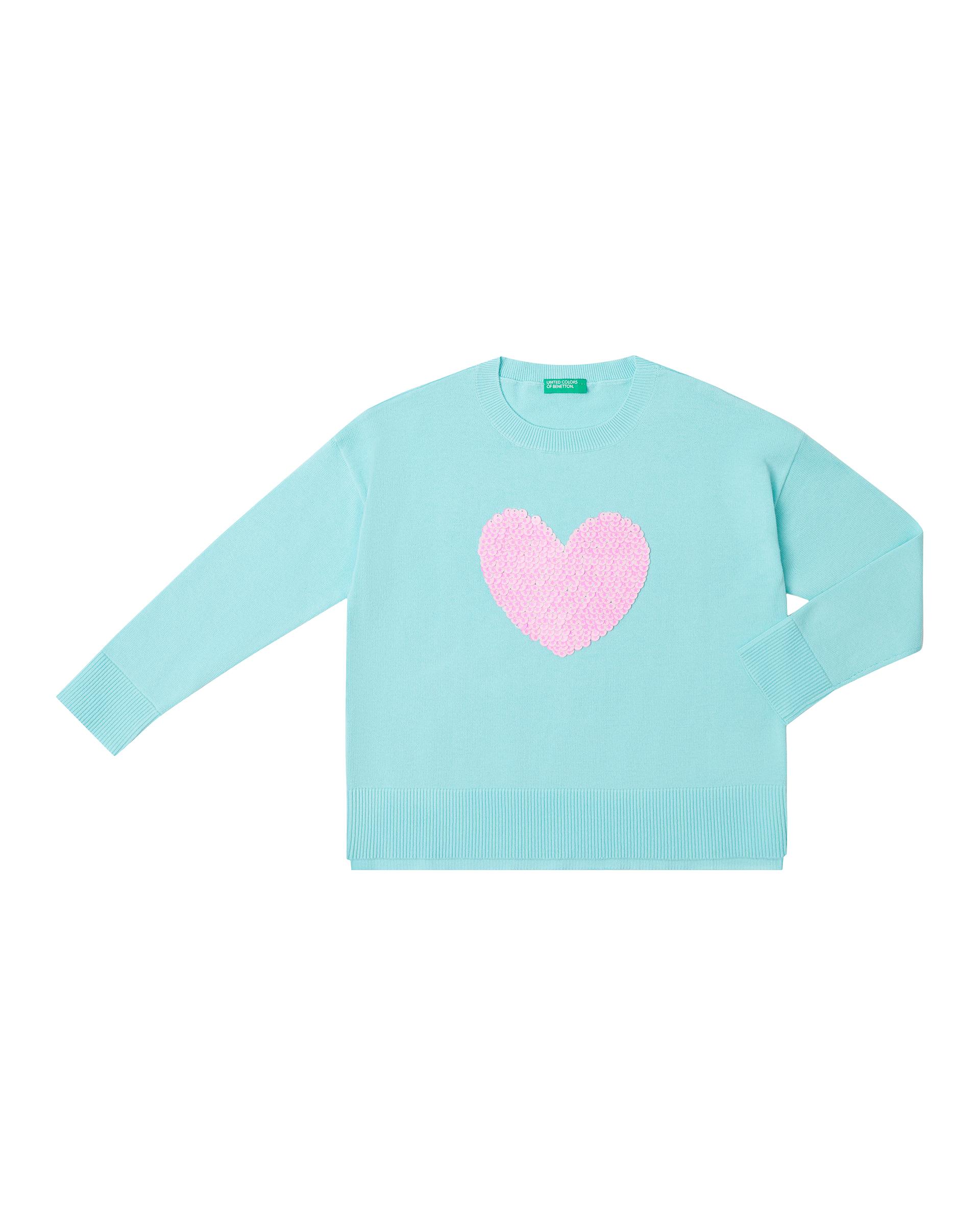 Купить 20P_10C1C1906_920, Джемпер для девочек Benetton 10C1C1906_920 р-р 140, United Colors of Benetton, Джемперы для девочек