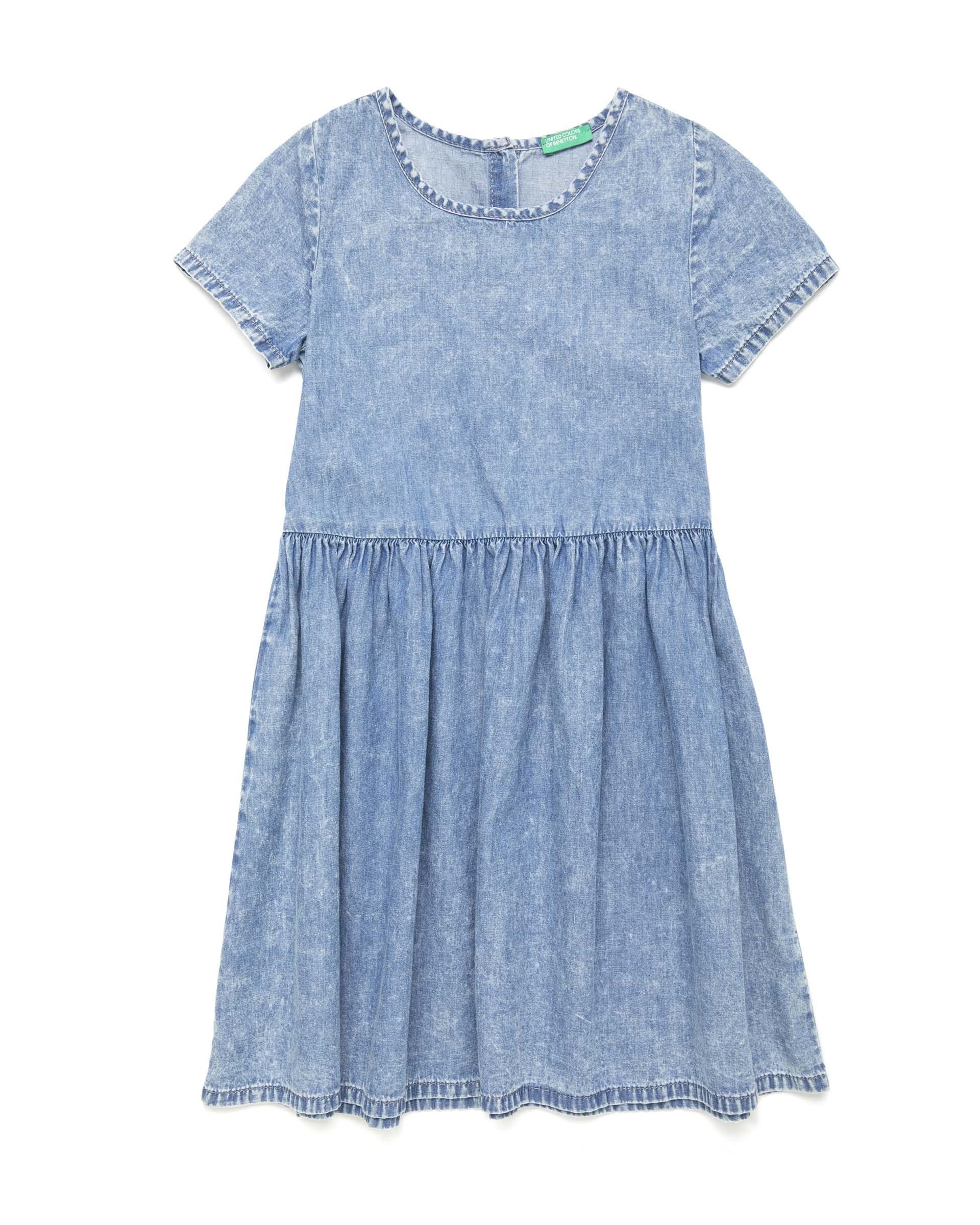 Купить 20P_4DHJ5VDD0_901, Платье для девочек Benetton 4DHJ5VDD0_901 р-р 128, United Colors of Benetton, Платья для девочек