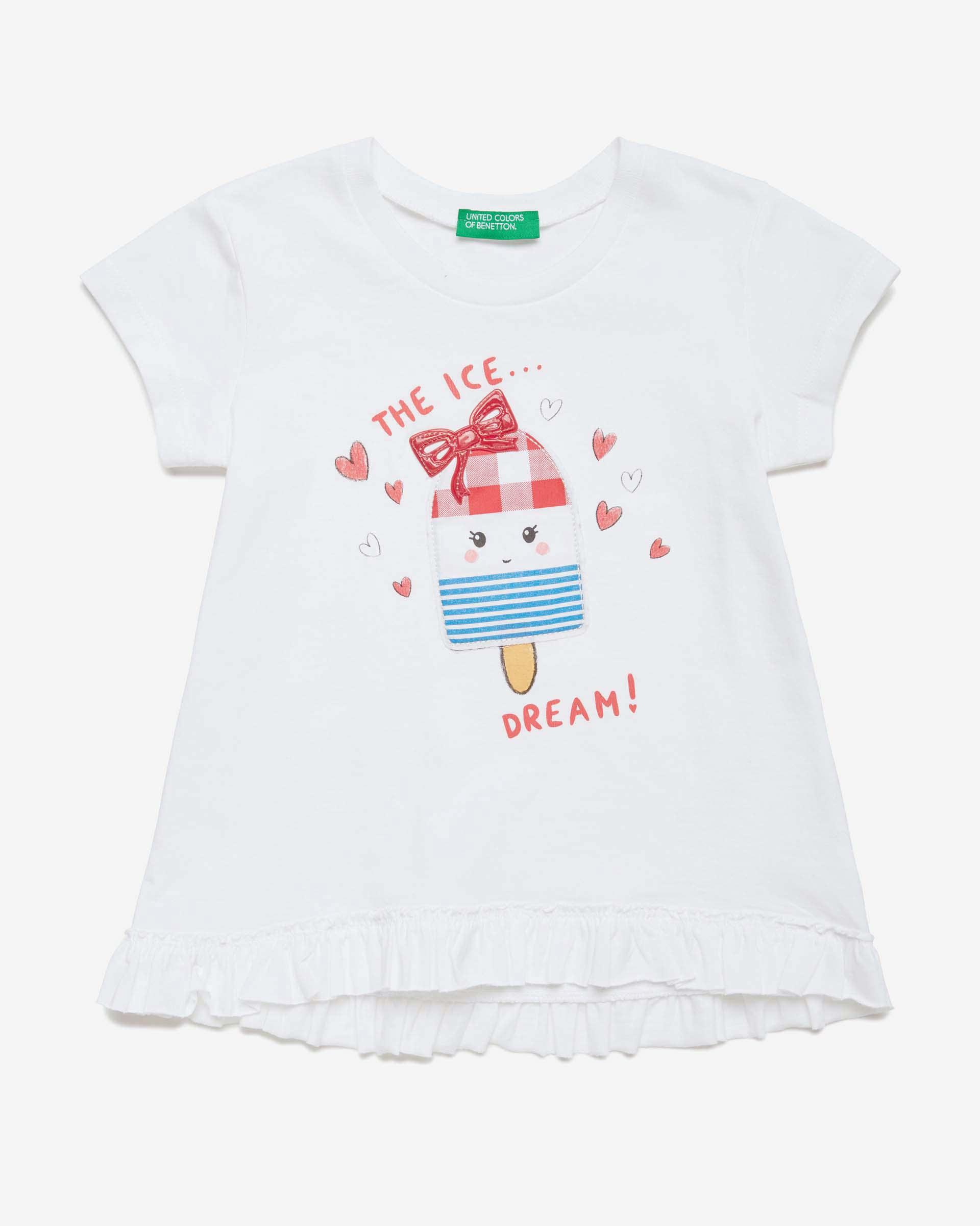 Купить 20P_3096C1BDP_101, Футболка для девочек Benetton 3096C1BDP_101 р-р 92, United Colors of Benetton, Кофточки, футболки для новорожденных