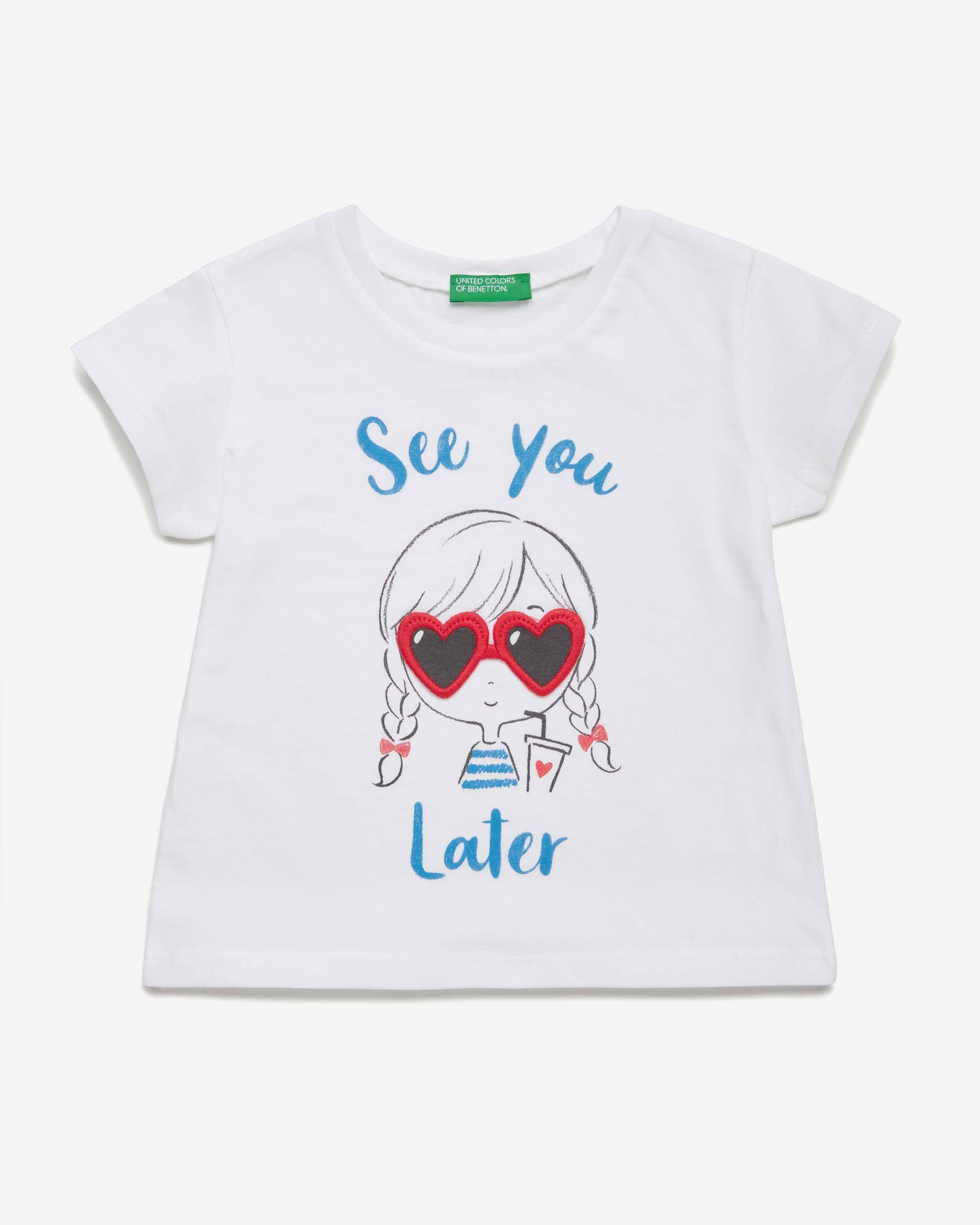 Купить 20P_3096C1BJP_101, Футболка для девочек Benetton 3096C1BJP_101 р-р 92, United Colors of Benetton, Кофточки, футболки для новорожденных