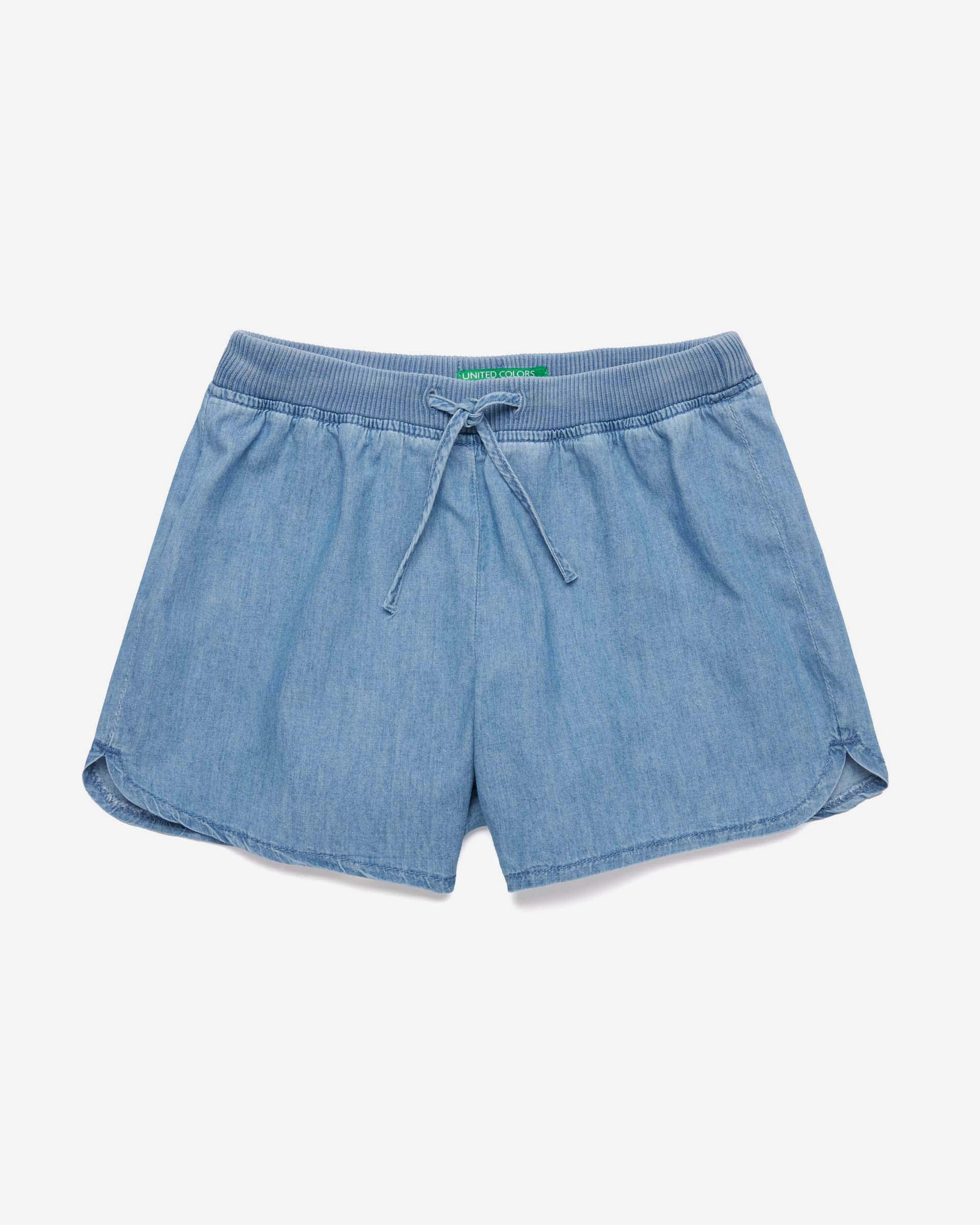 Купить 20P_4DHJ59E30_902, Шорты для девочек Benetton 4DHJ59E30_902 р-р 128, United Colors of Benetton