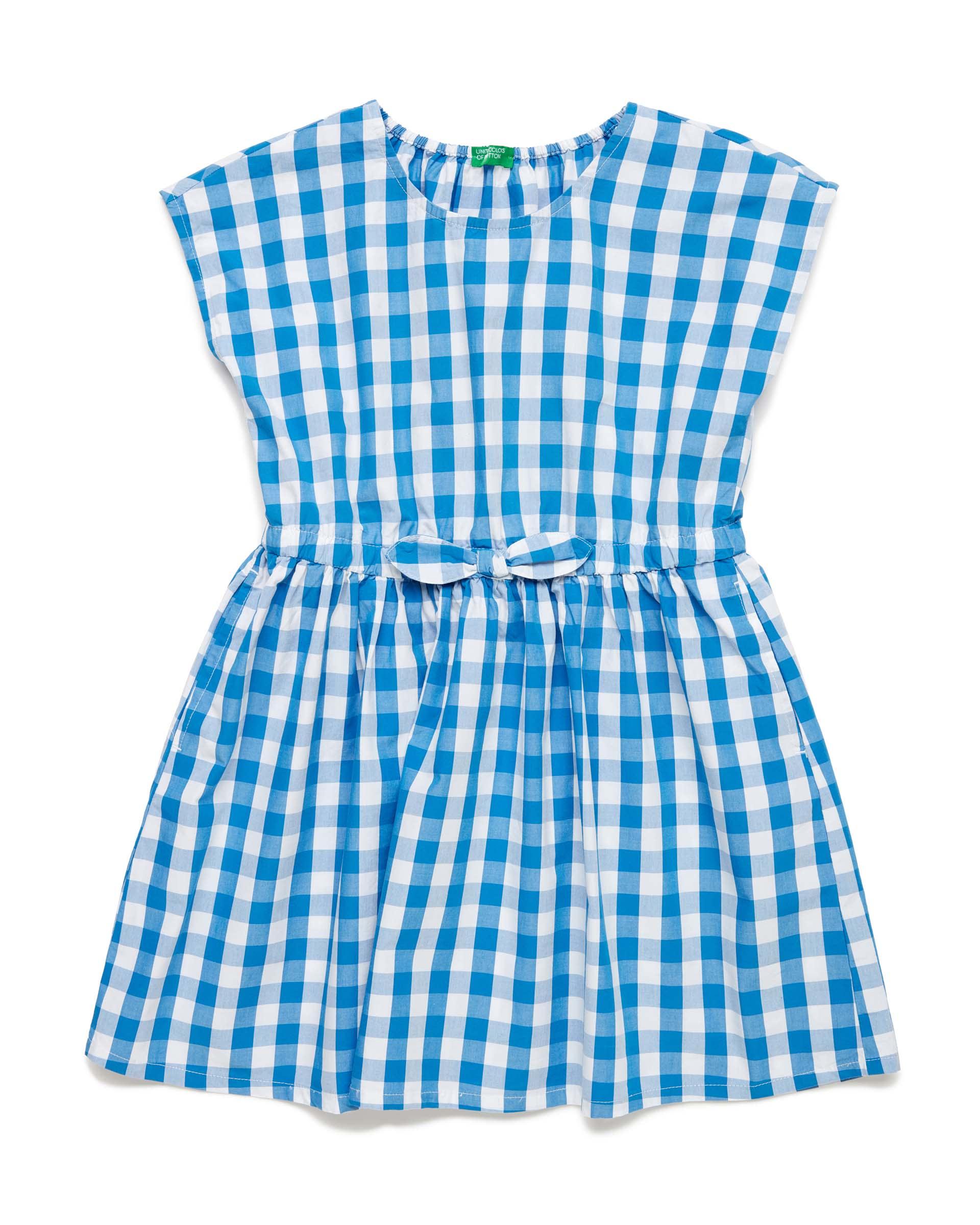 Купить 20P_4OT75VDG0_910, Платье для девочек Benetton 4OT75VDG0_910 р-р 128, United Colors of Benetton, Платья для девочек