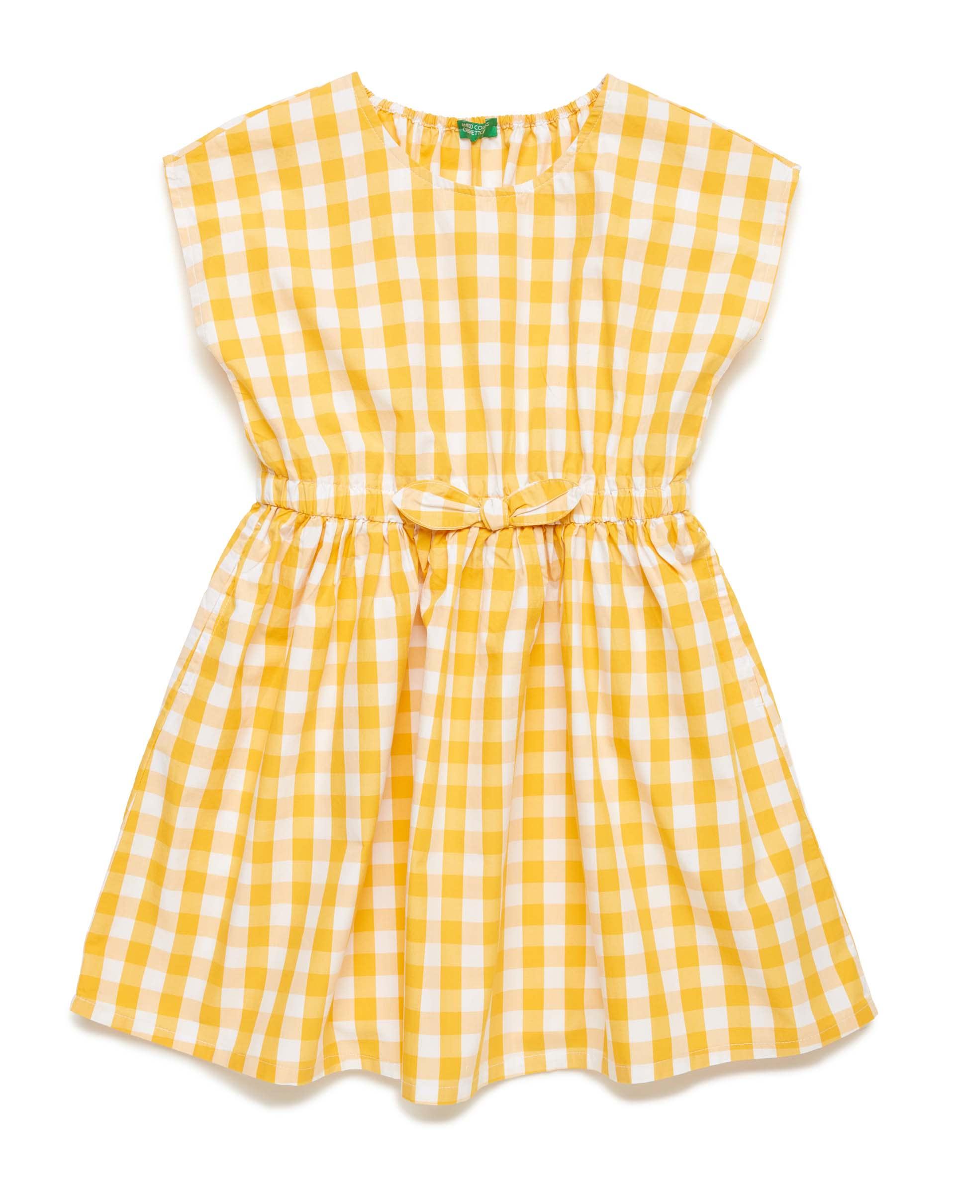Купить 20P_4OT75VDG0_911, Платье для девочек Benetton 4OT75VDG0_911 р-р 128, United Colors of Benetton, Платья для девочек