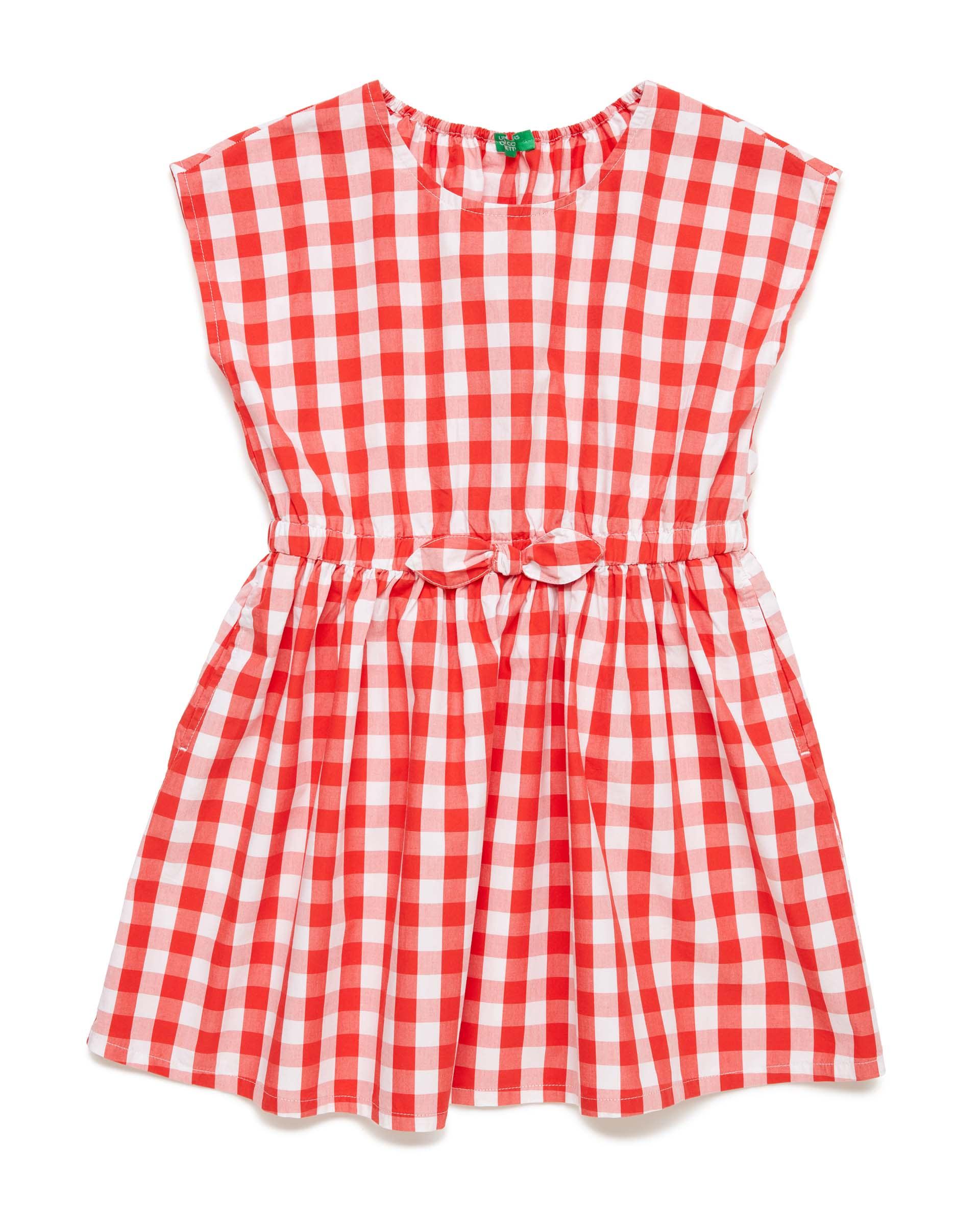Купить 20P_4OT75VDG0_912, Платье для девочек Benetton 4OT75VDG0_912 р-р 140, United Colors of Benetton, Платья для девочек
