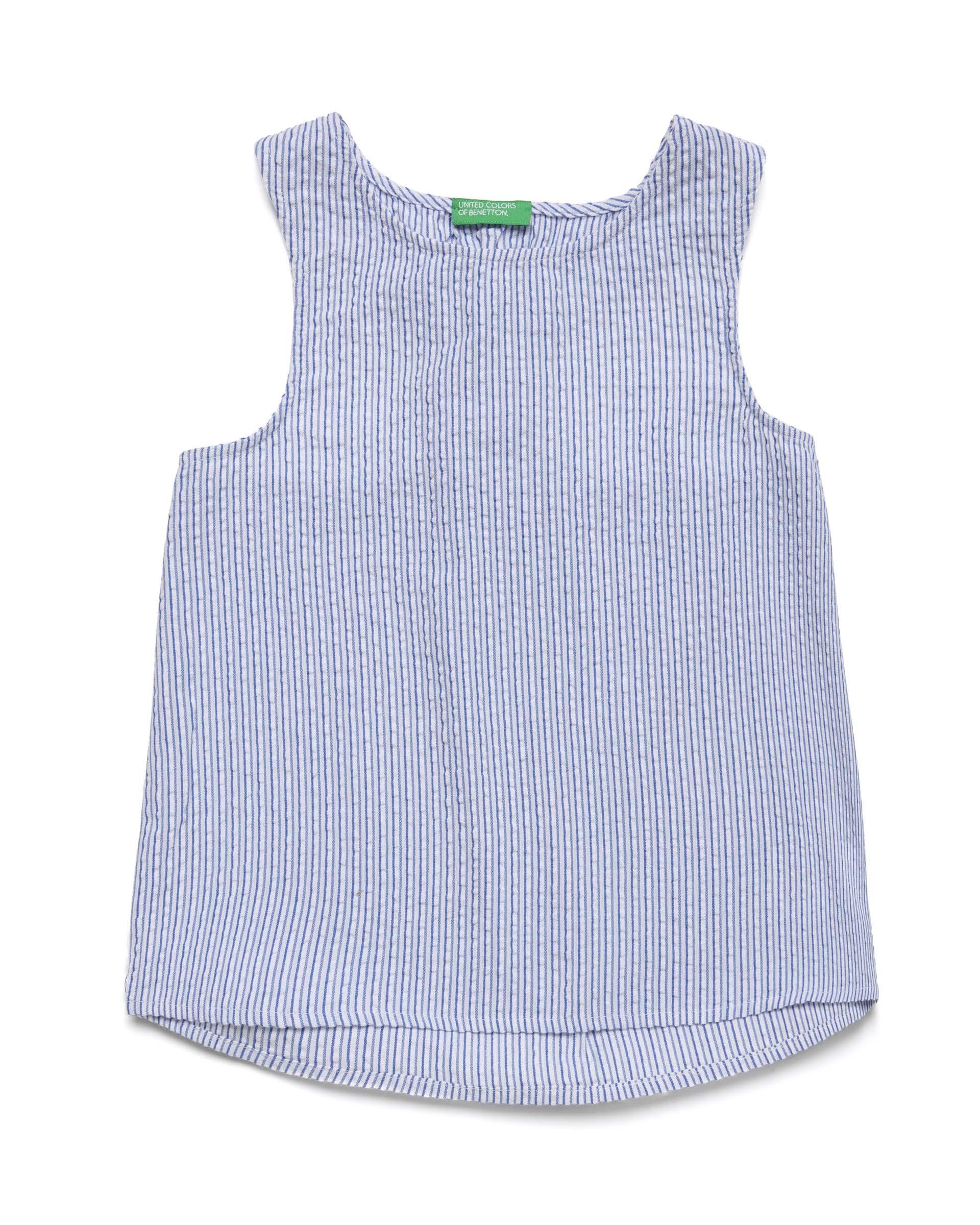 Купить 20P_5OV05T1D0_901, Блуза без рукавов для девочек Benetton 5OV05T1D0_901 р-р 128, United Colors of Benetton, Блузки для девочек