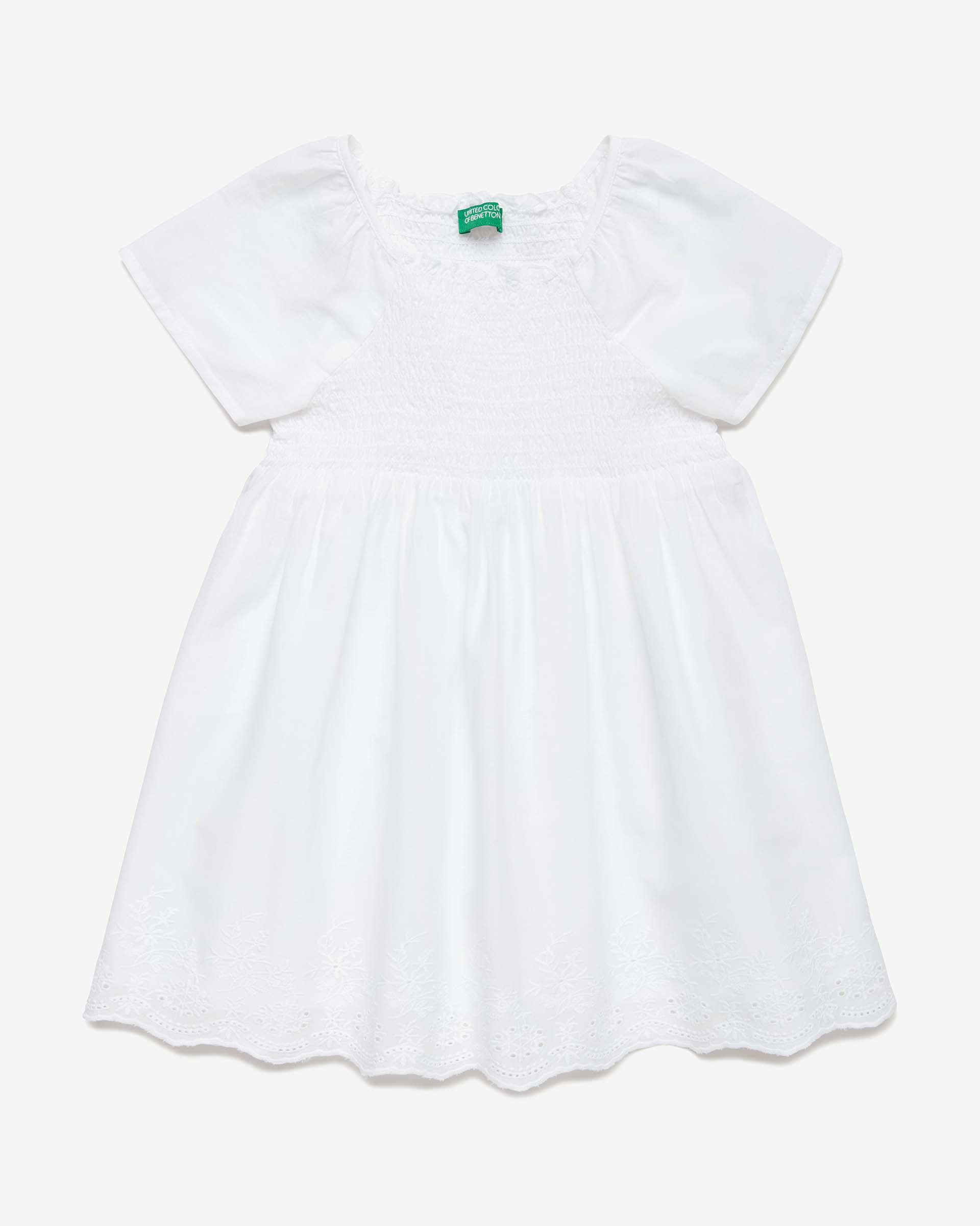 Купить 20P_4JO15V2MP_101, Платье для девочек Benetton 4JO15V2MP_101 р-р 80, United Colors of Benetton, Платья для новорожденных