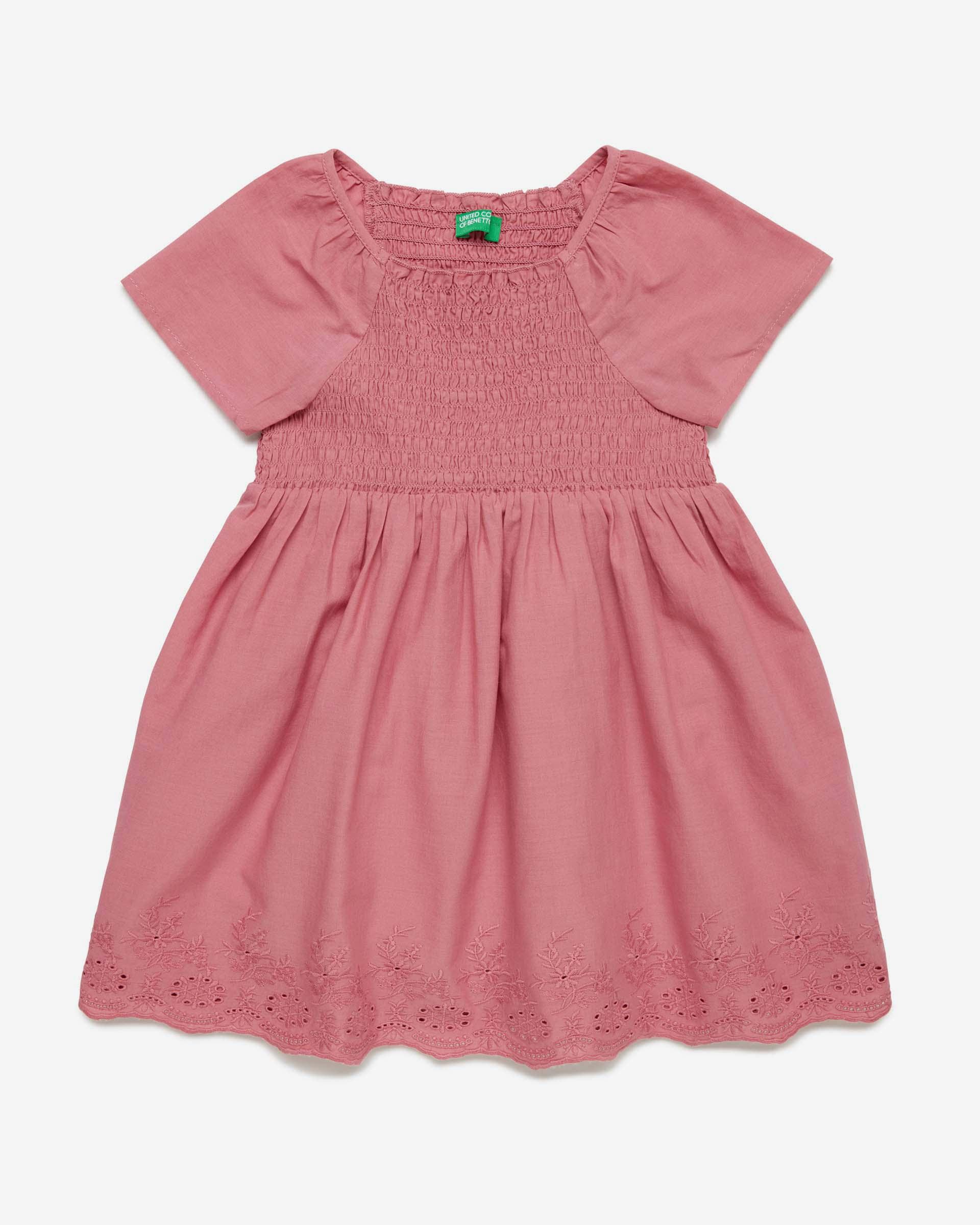 Купить 20P_4JO15V2MP_2P6, Платье для девочек Benetton 4JO15V2MP_2P6 р-р 80, United Colors of Benetton, Платья для новорожденных