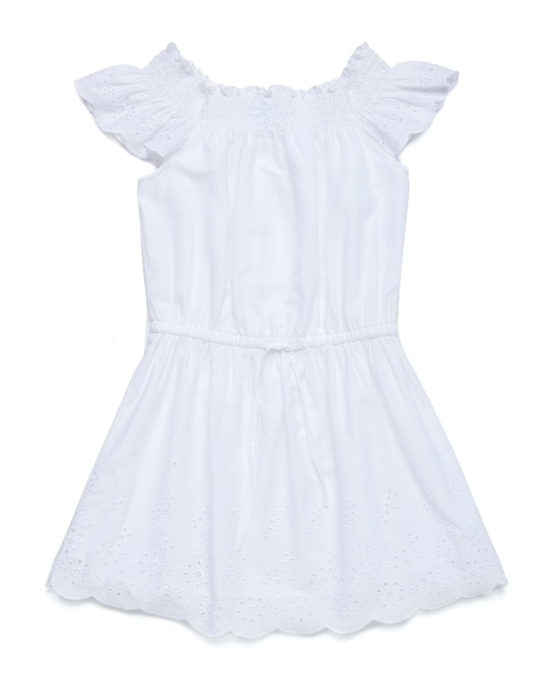Купить 20P_4JO15VDK0_101, Платье для девочек Benetton 4JO15VDK0_101 р-р 128, United Colors of Benetton, Платья для девочек