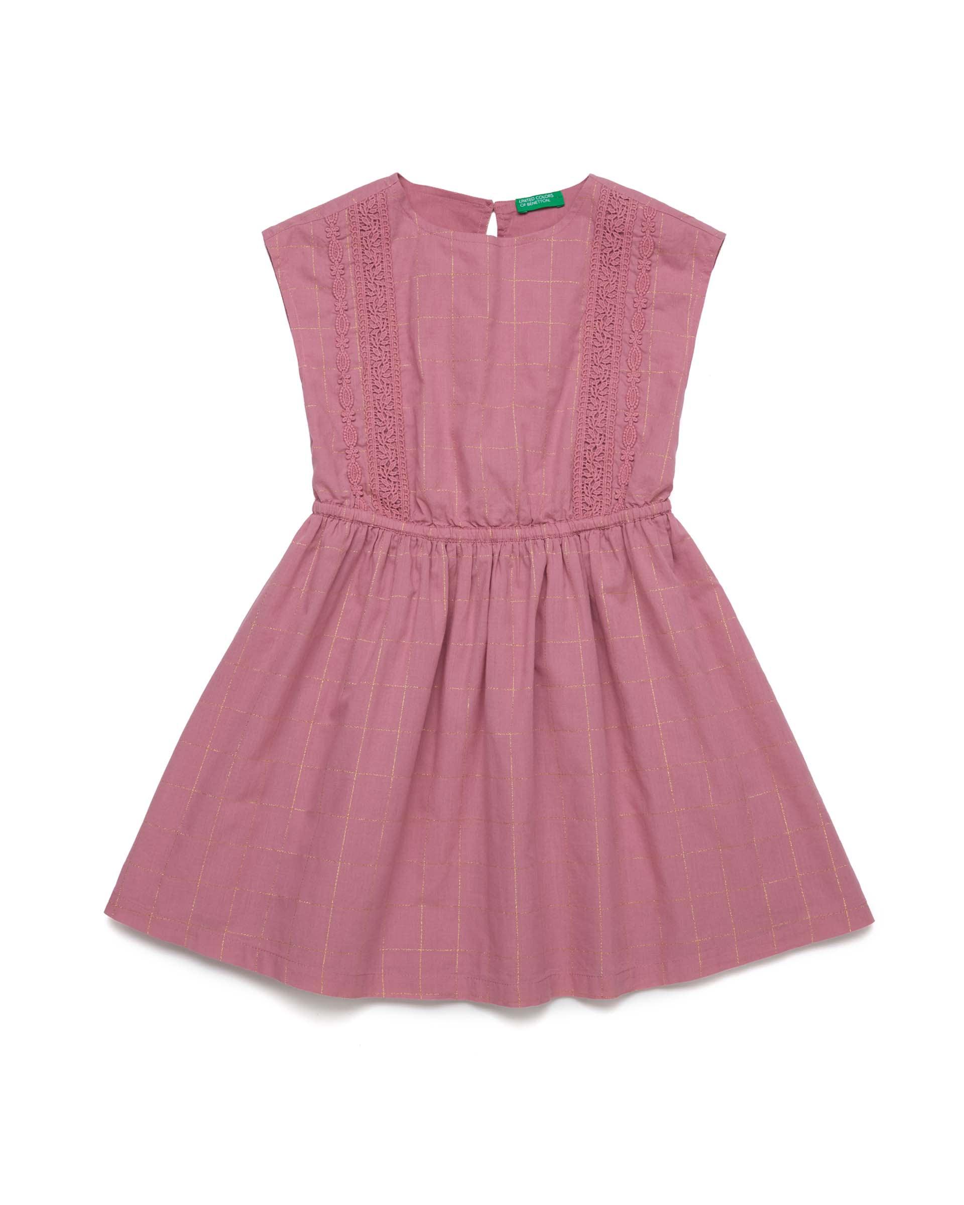 20P_4OV55VDH0_910, Платье для девочек Benetton 4OV55VDH0_910 р-р 128, United Colors of Benetton, Платья для девочек  - купить со скидкой