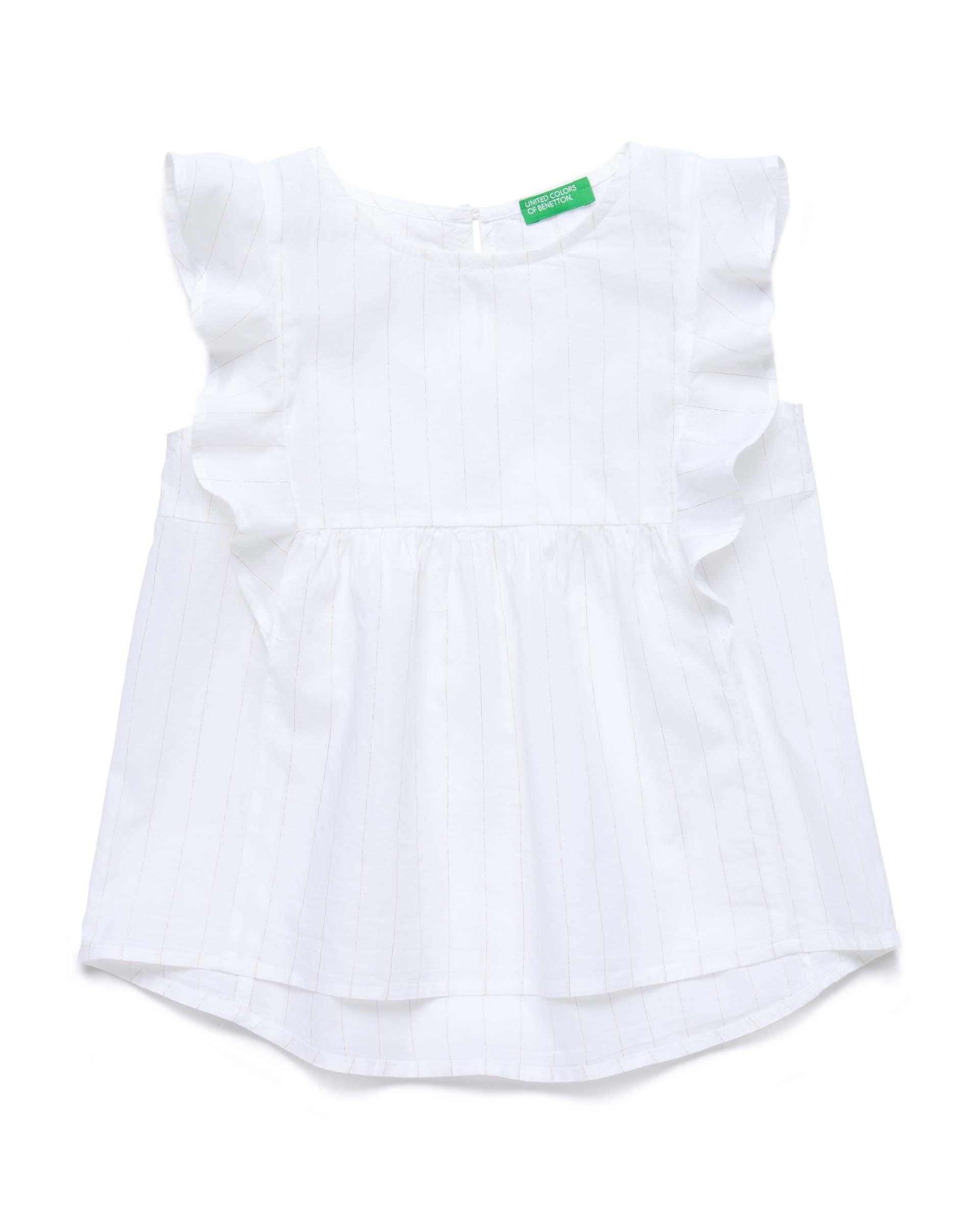 Купить 20P_5OV55QH80_901, Блуза для девочек Benetton 5OV55QH80_901 р-р 128, United Colors of Benetton, Блузки для девочек