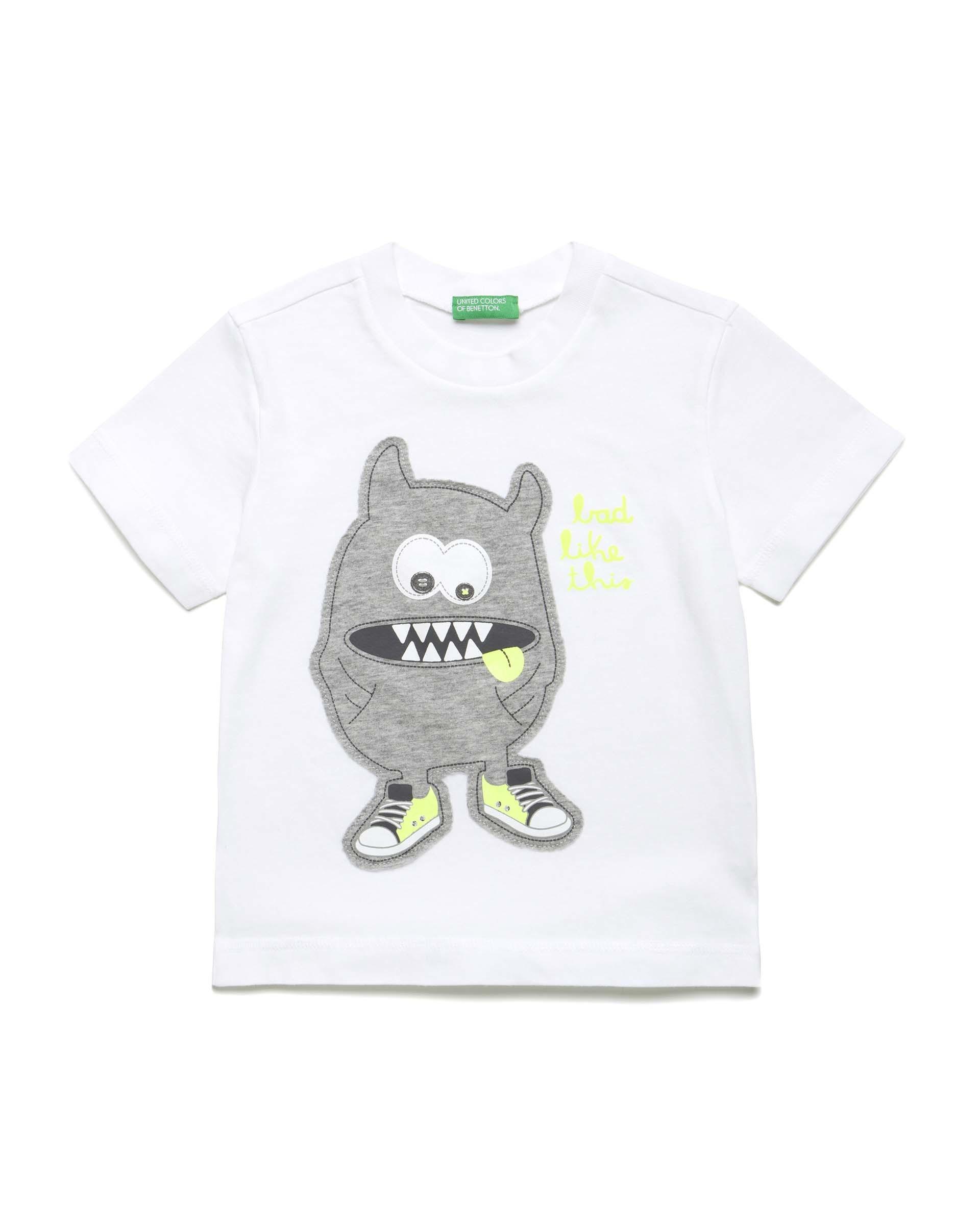 Купить 20P_3096C1AYP_101, Футболка для мальчиков Benetton 3096C1AYP_101 р-р 92, United Colors of Benetton, Кофточки, футболки для новорожденных