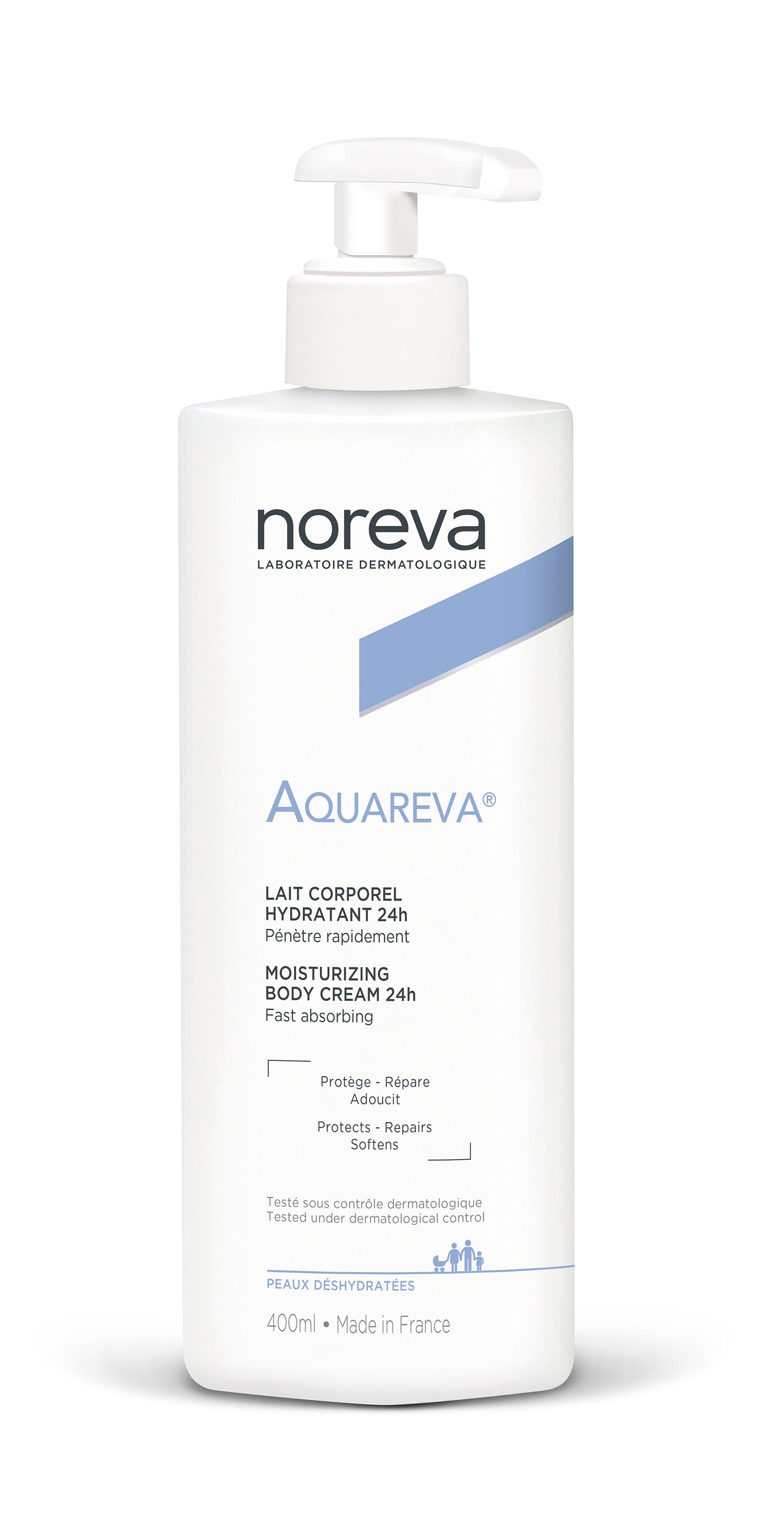 Купить Молочко для тела Noreva Lait Aquareva Corporel Hydratant 24H Увлажняющие 400 мл