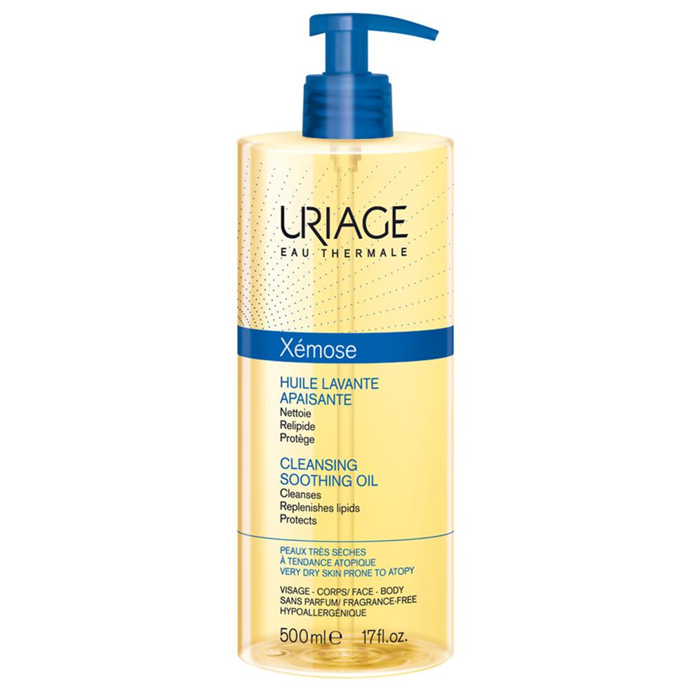 Купить Масло для лица Uriage Xemose Очищающее успокаивающее масло 500 мл, Huile Lavante Apaisante