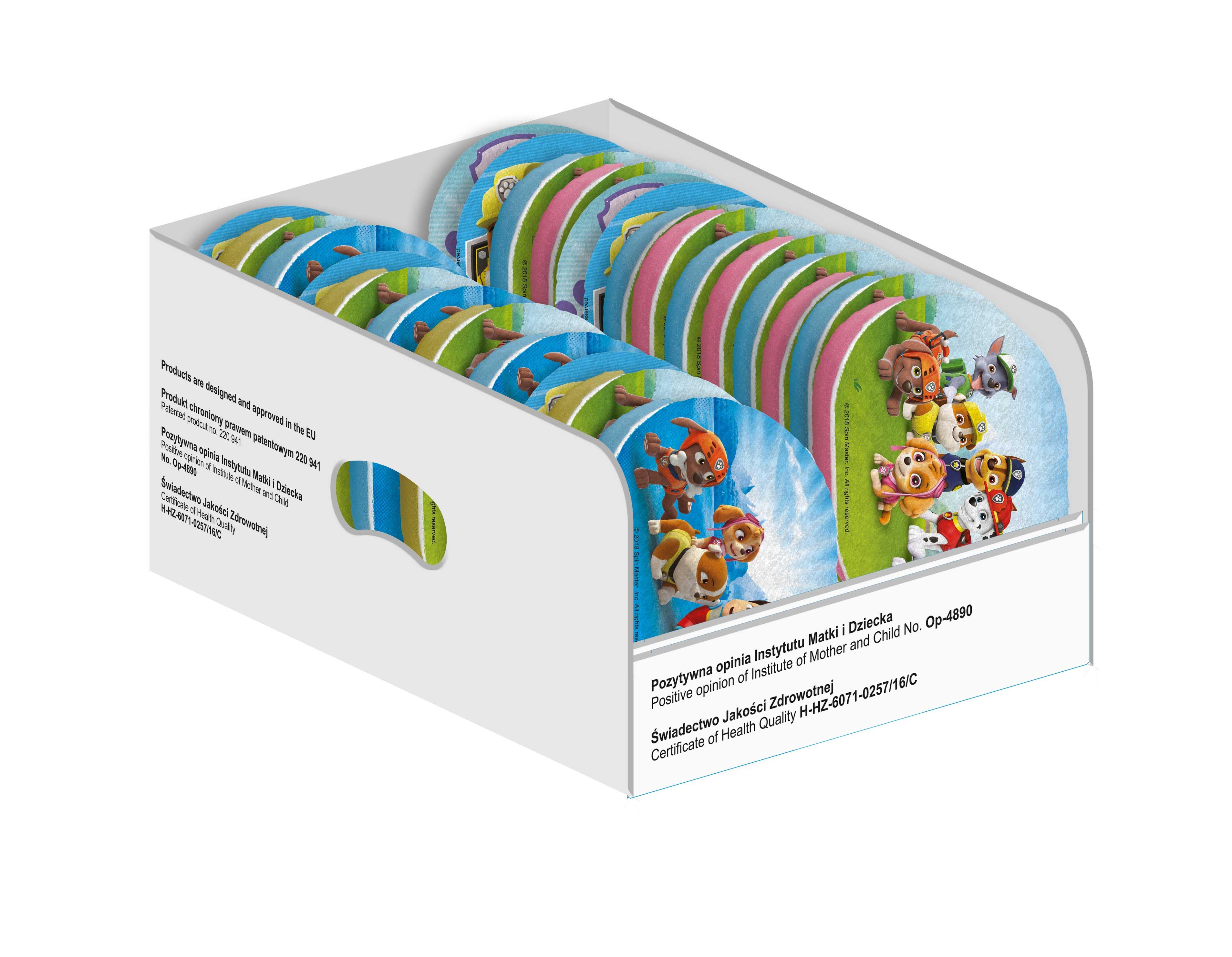 Купить 1019205213700, Детская губка для мытья Keeeper Paw Patrol, упаковка 4 шт.,