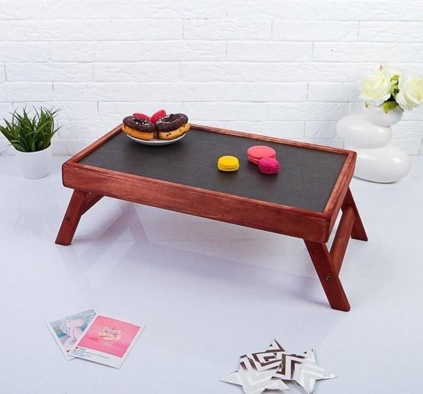 Столик для завтрака складной, мореный, «Red»,