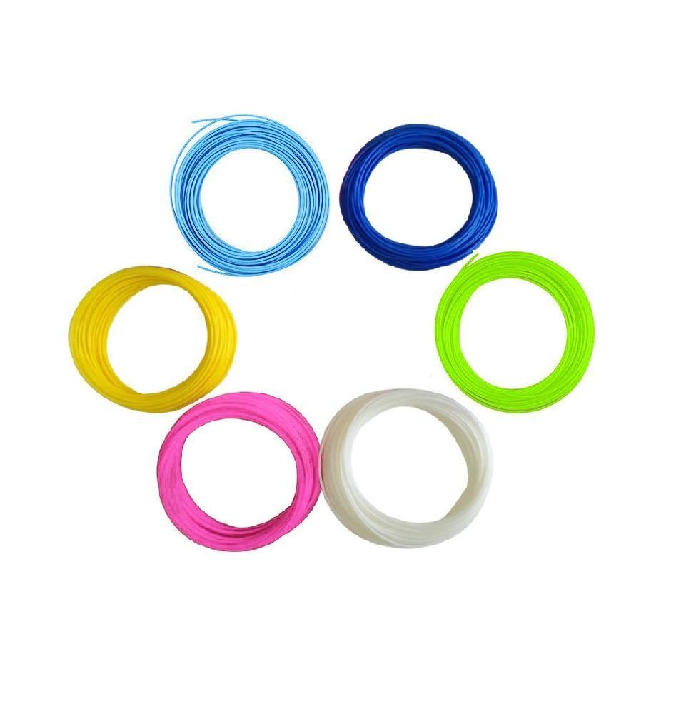 Купить Набор пластика для 3D ручки 10 м, 6 цветов, NoBrand,
