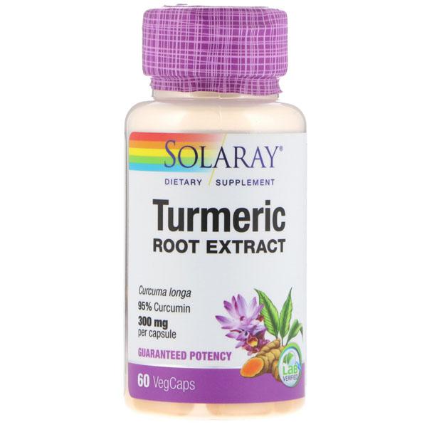 Экстракт корня куркумы Solaray Turmeric Root Extract 300 мг куркумин 95% капсулы 60 шт.