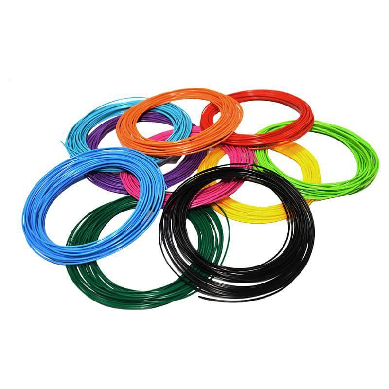 Купить 20 цветов по 10 м для 3D ручки, Набор пластика для 3D-ручек PLA разноцветный, 20 цветов по 10 м,
