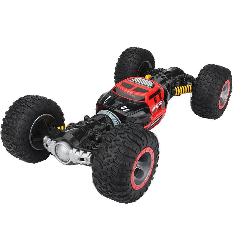 Купить Машинка-перевертыш на радиоуправлении Hyper Actives Stunt Leopard King №1 красная, 49 см,