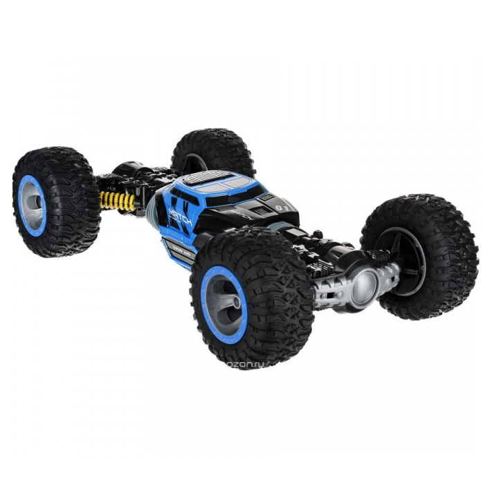 Купить Машинка-перевертыш на радиоуправлении Hyper Actives Stunt Leopard King №1 синяя, 49 см,
