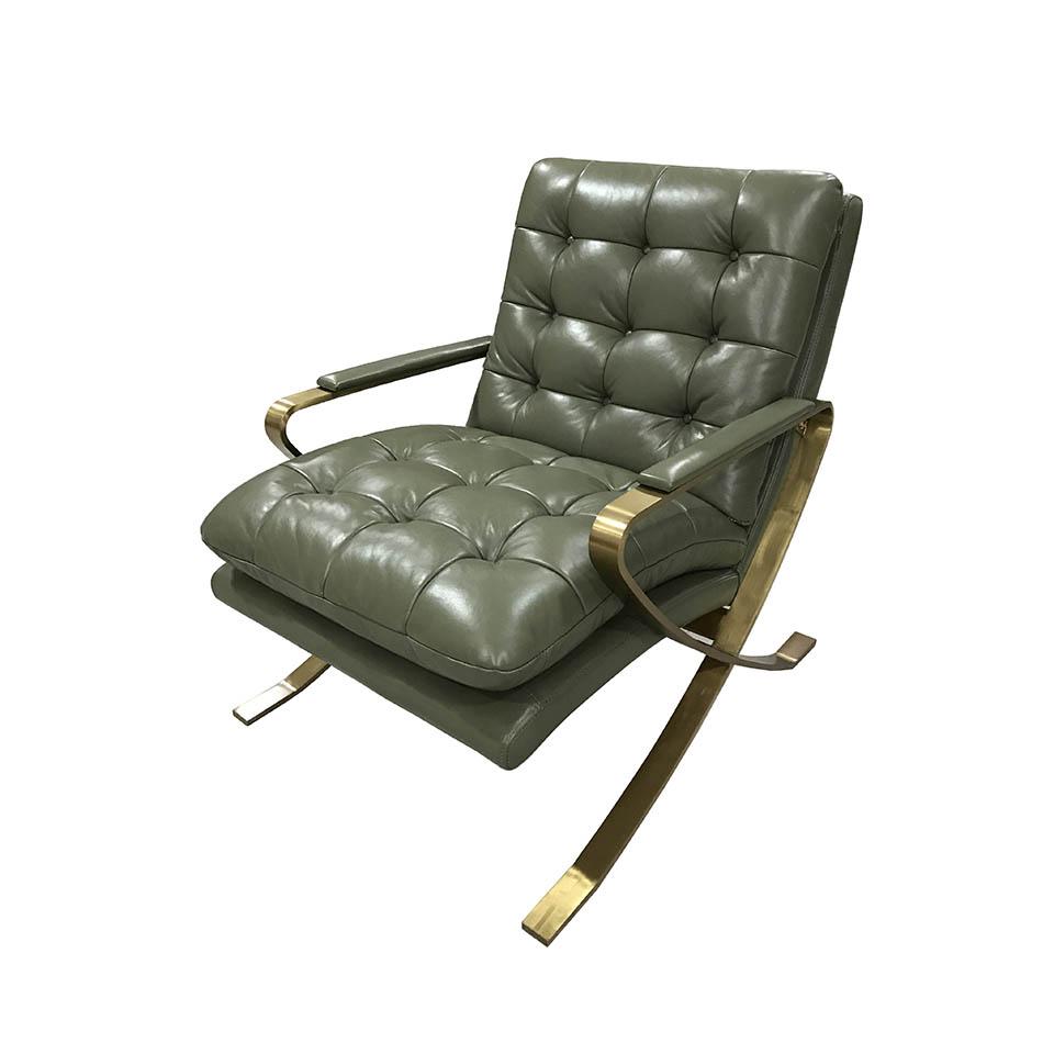 Кресло для гостиной ROOMERS C0251 1D/B135#Green, зеленый