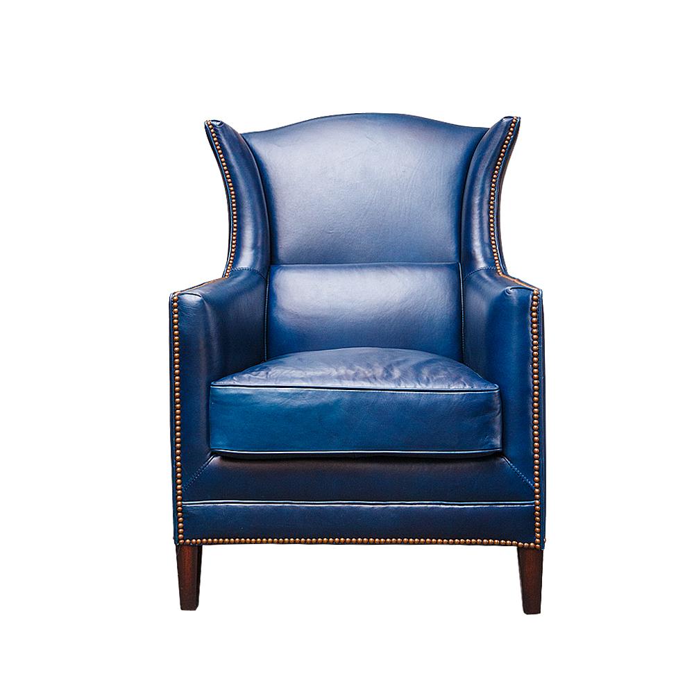 Кресло для гостиной ROOMERS 976/blue #B126, синий