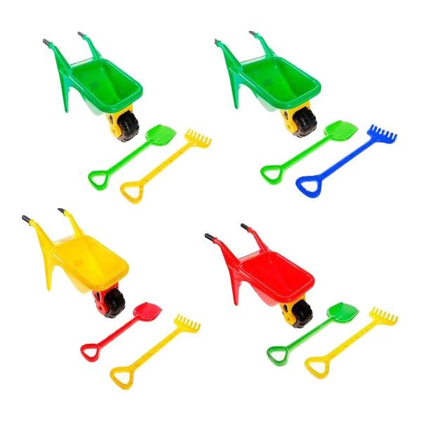 Купить Тачка Полесье Садовод 4383 Зеленый, желтый, красный,