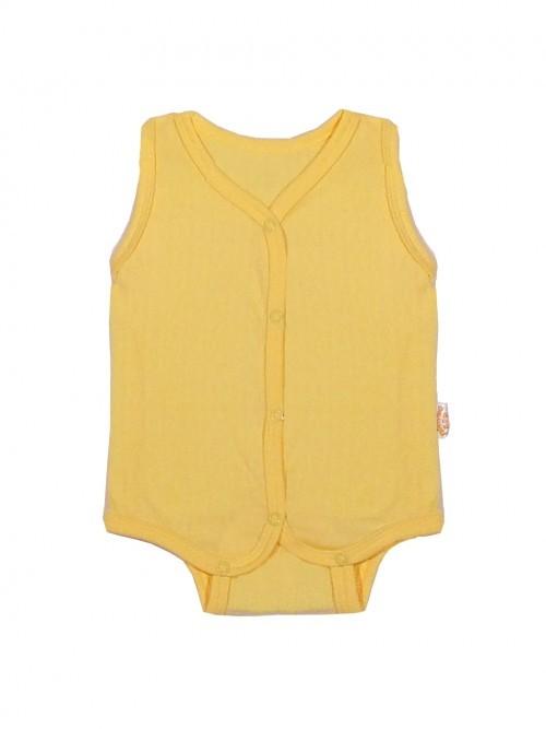 Купить 226а, Боди Желтый кот Ажурные желтый, р. 74,