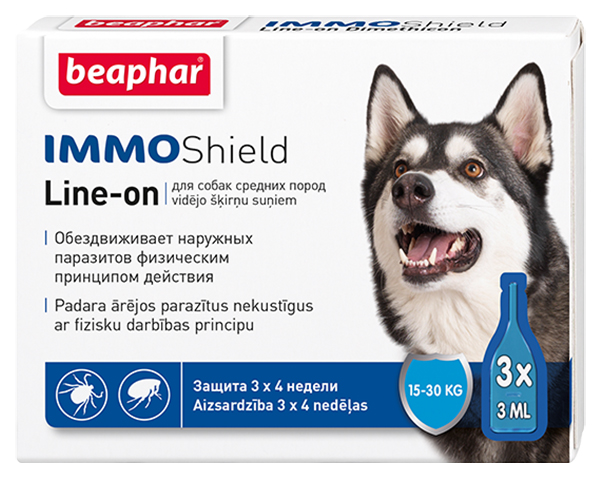 Капли для средних собак против паразитов Beaphar