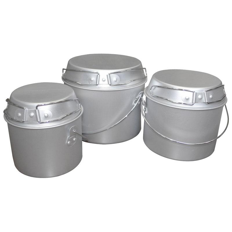 Набор походных котелков Ecos Camp-S1 с крышкой-сковородой (1.0л, 2.0л, 3.0л) 991008