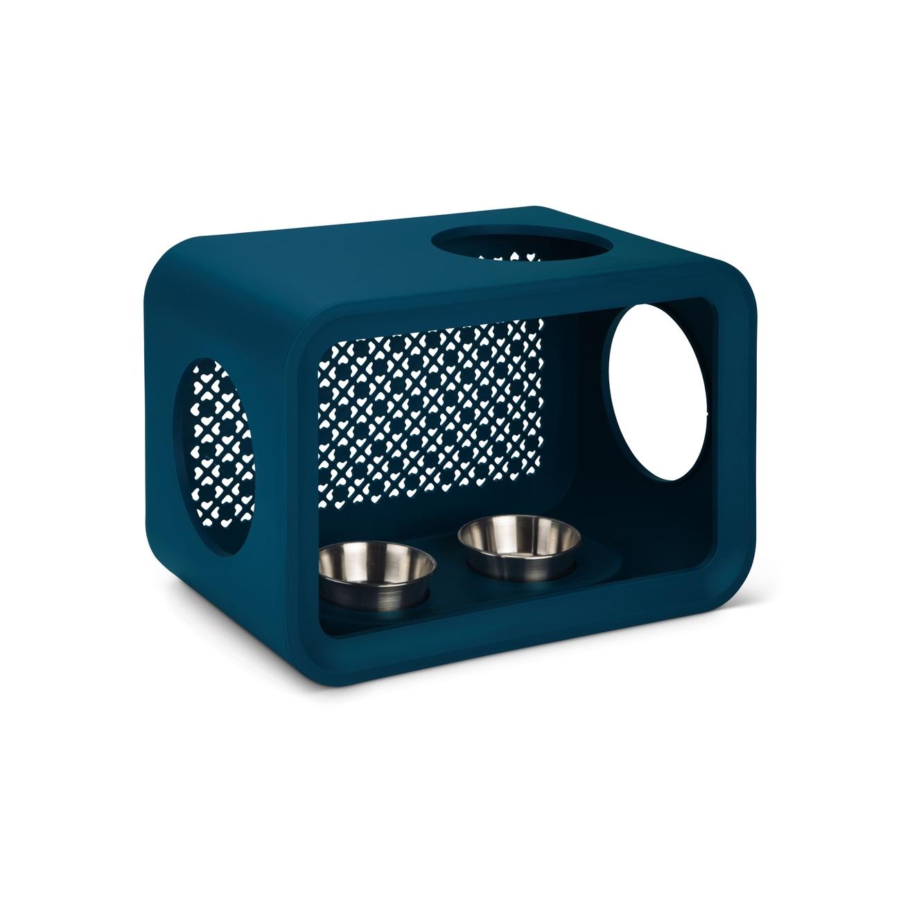 Домик для кошек Beeztees Дом-Куб обеденный стол, синий, 49x33x29см фото