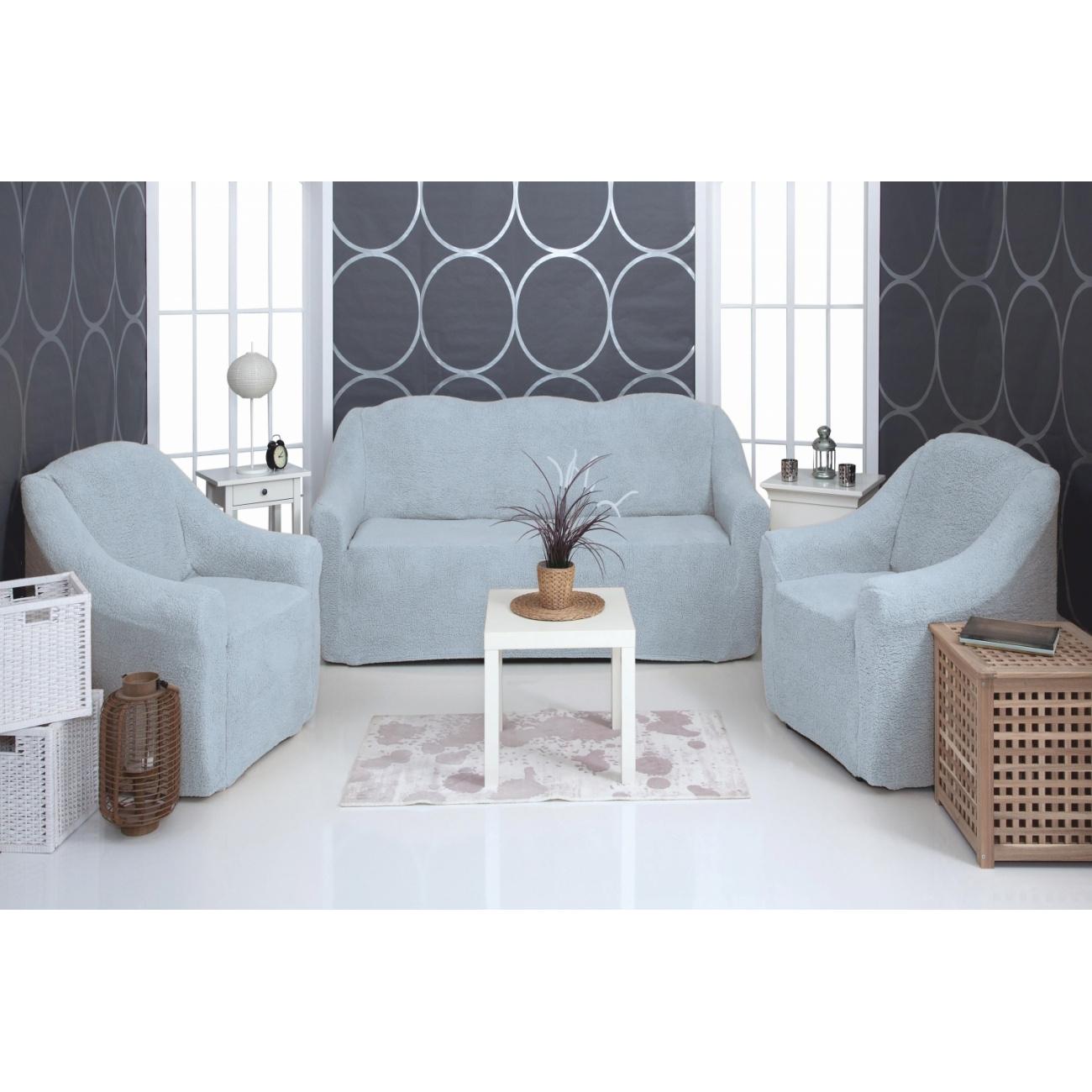 Комплект чехлов на диван и кресла плюшевый Venera