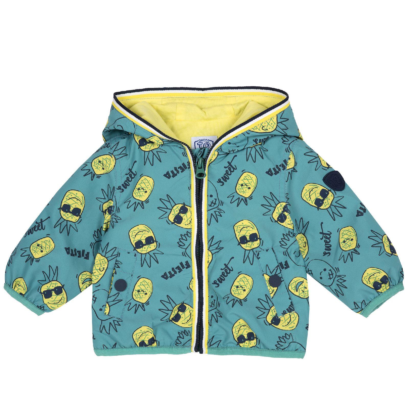 Купить 09087477, Куртка Chicco для мальчиков зеленая, с карманами на кнопке, размер 104,