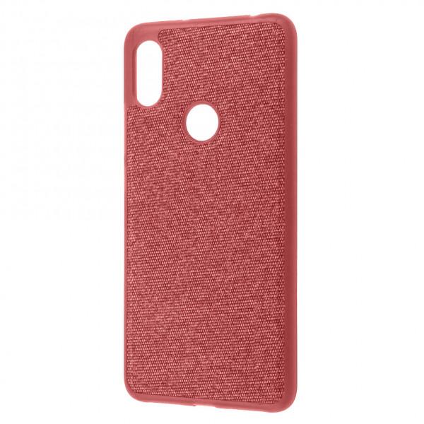 Чехол Fiber Logo для Xiaomi Redmi Note 6 Pro Red