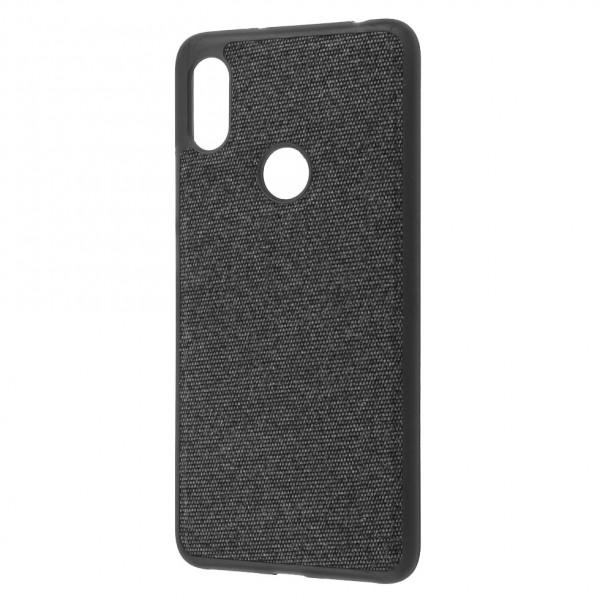 Чехол Fiber Logo для Xiaomi Redmi Note 6 Pro Black