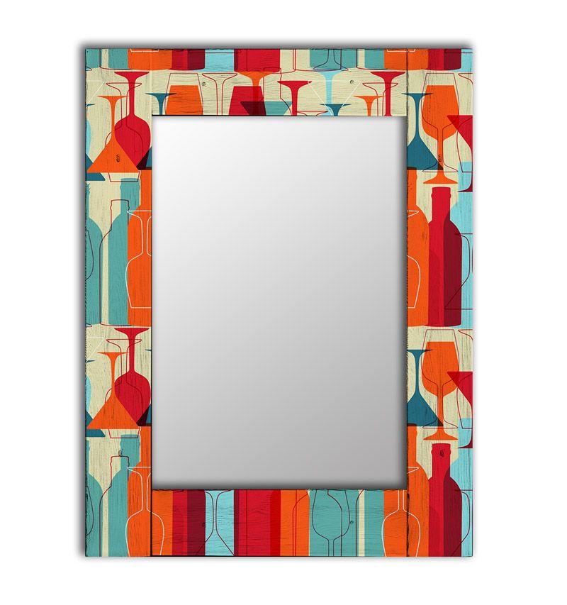 Зеркало настенное Дом Корлеоне Винный квартал 04-0061-90х90 90х90 см, уф печать фото