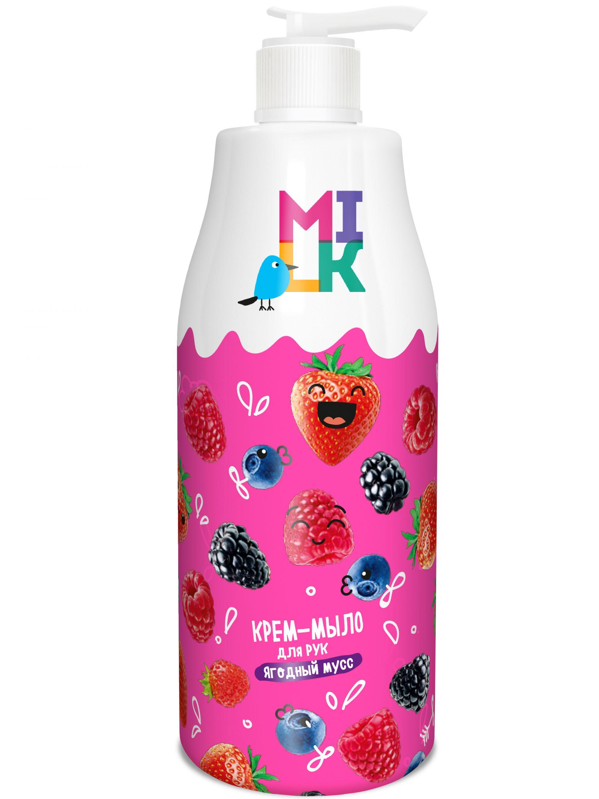Купить Крем-мыло для рук MILK ягодный мусс 500 мл
